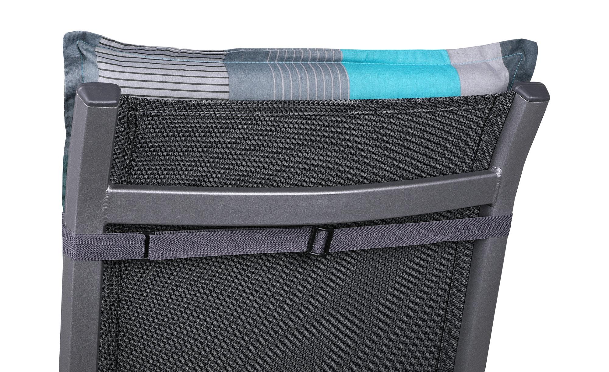 Relaxauflage  Iris ¦ blau ¦ Druckstoff, 50% Baumwolle, 50% Polyester ¦ Maße (cm): B: 50 H: 7 Garten > Auflagen & Kissen > Sonstige Sitzkissen - Höffner