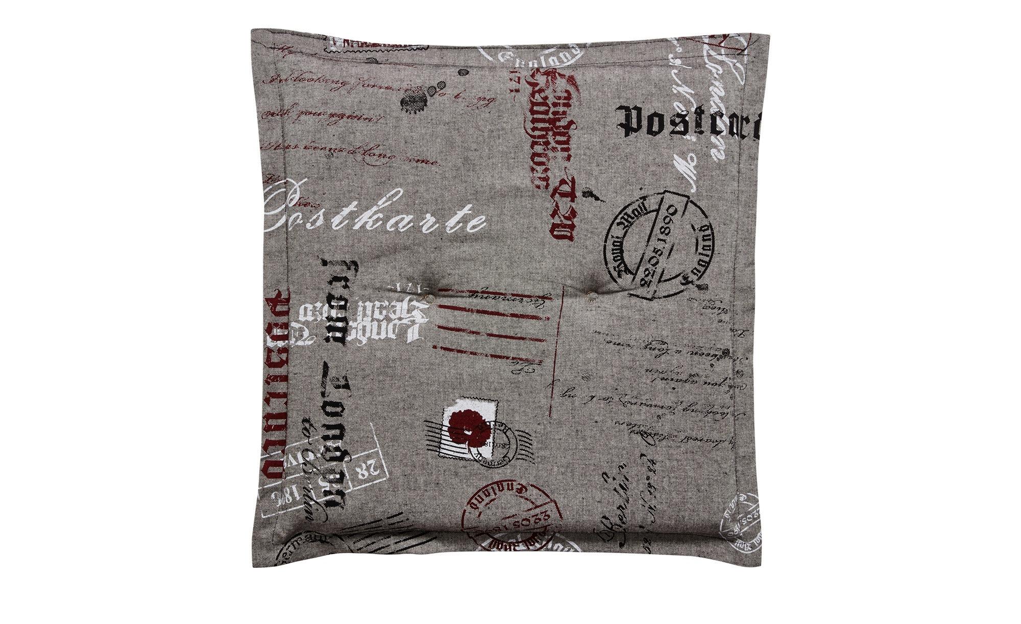 Hockerauflage  Stamp ¦ grau ¦ 85% Baumwolle, 15% Polyester ¦ Maße (cm): B: 50 H: 8 Garten > Auflagen & Kissen > Gartenhocker-Auflagen - Höffner