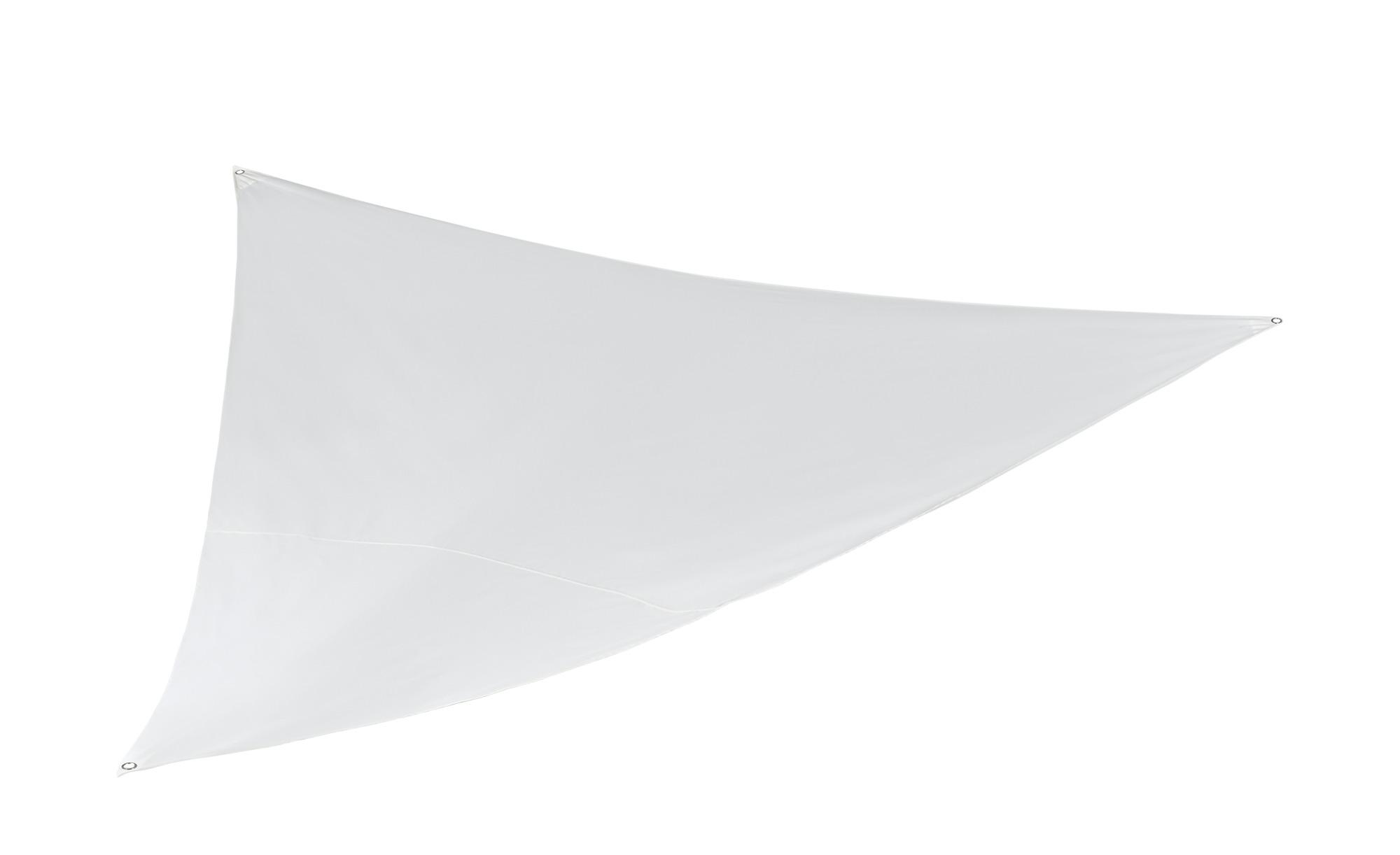 GO-DE Sonnensegel| 3-eckig  Sonne ¦ weiß ¦ Maße (cm): B: 360 T: 360 Garten > Sonnenschutz > Sonnenschirme - Höffner | Garten > Sonnenschirme und Markisen > Sonnensegel | Möbel Höffner DE