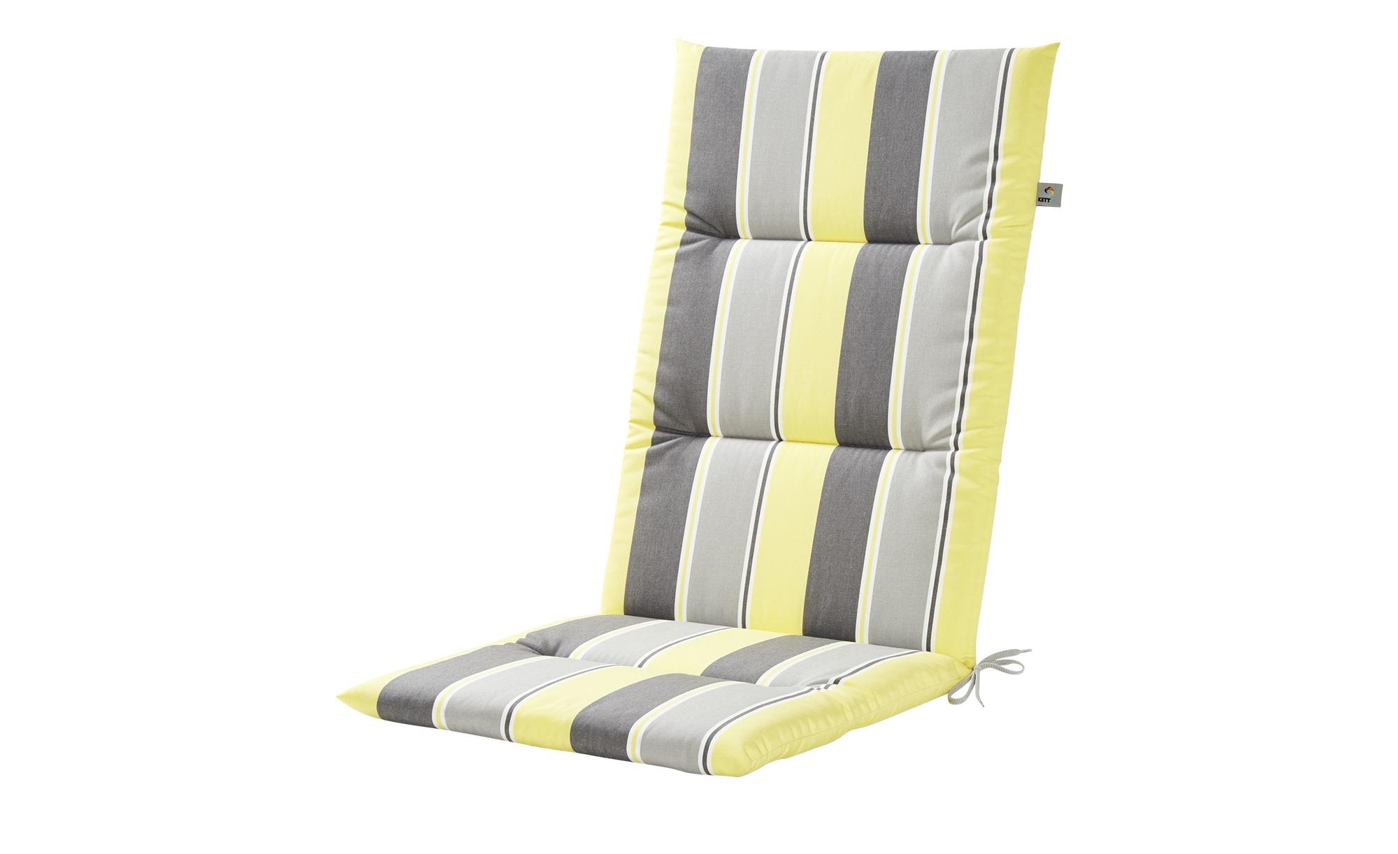 KETTLER Polska Auflage  Stripes Alutex ¦ gelb ¦ Maße (cm): B: 50 H: 4 Garten > Auflagen & Kissen > Hochlehner-Auflagen - Höffner