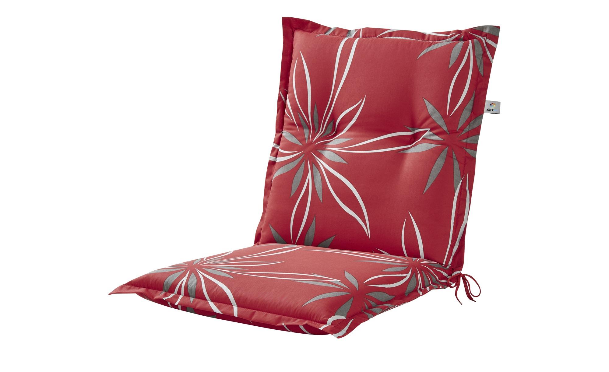 KETTLER Polska Auflage  Red Bloom ¦ rot ¦ Maße (cm): B: 50 H: 8 Garten > Auflagen & Kissen > Niederlehner-Auflagen - Höffner