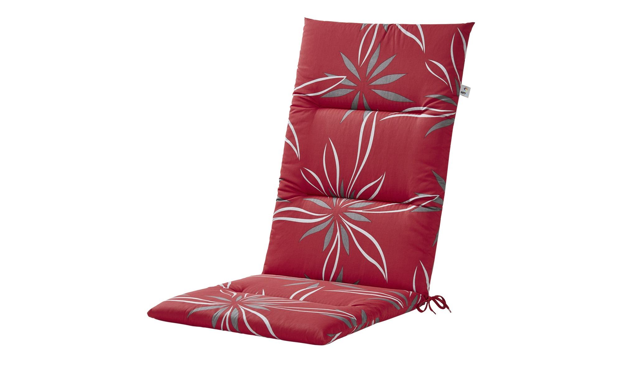 KETTLER Polska Auflagenserie  Red Bloom Alutex ¦ rot ¦ Maße (cm): B: 50 H: 4 Garten > Auflagen & Kissen > Hochlehner-Auflagen - Höffner