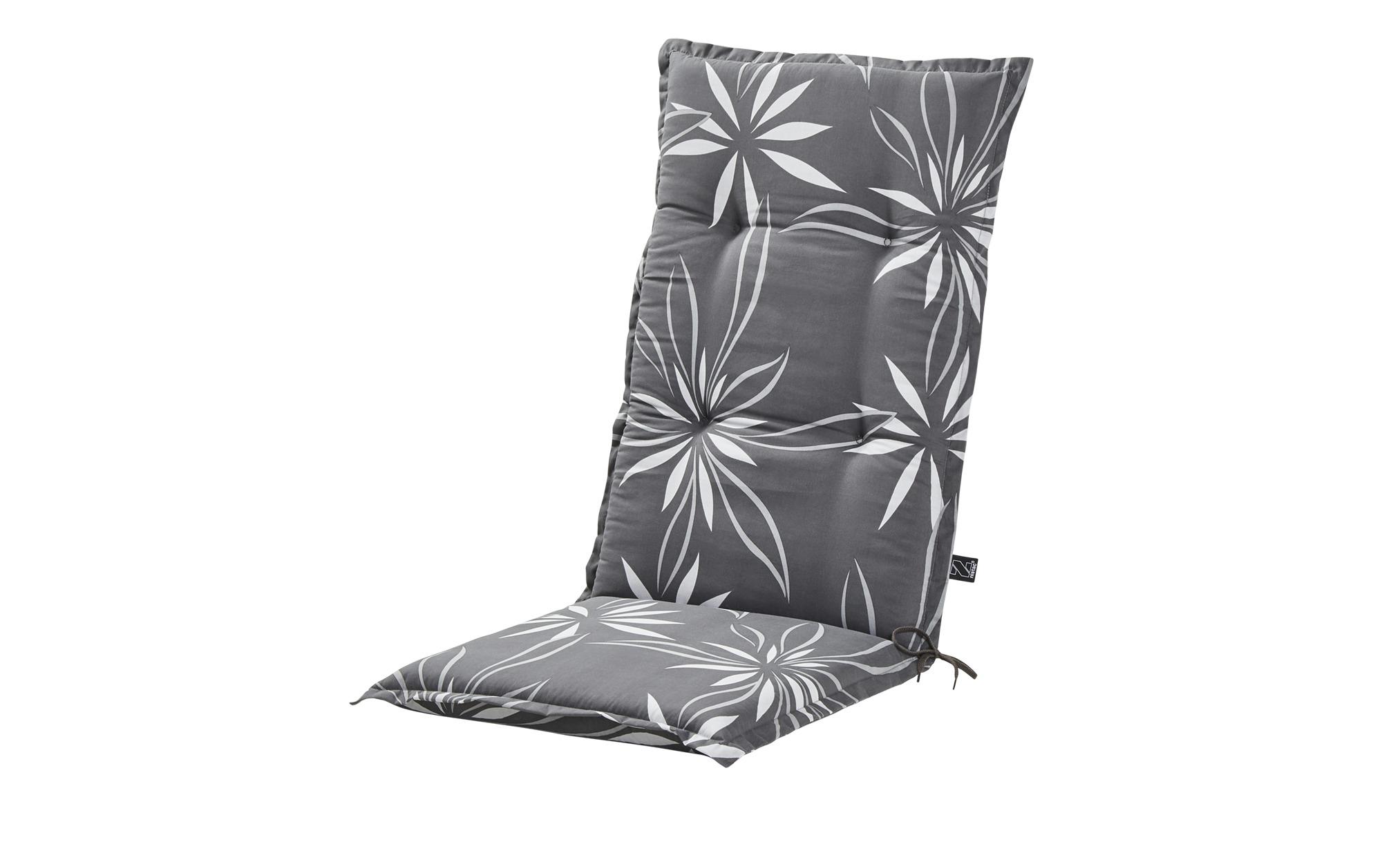 KETTLER Polska Auflage  Grey Bloom ¦ grau ¦ Maße (cm): B: 50 H: 8 Garten > Auflagen & Kissen > Hochlehner-Auflagen - Höffner