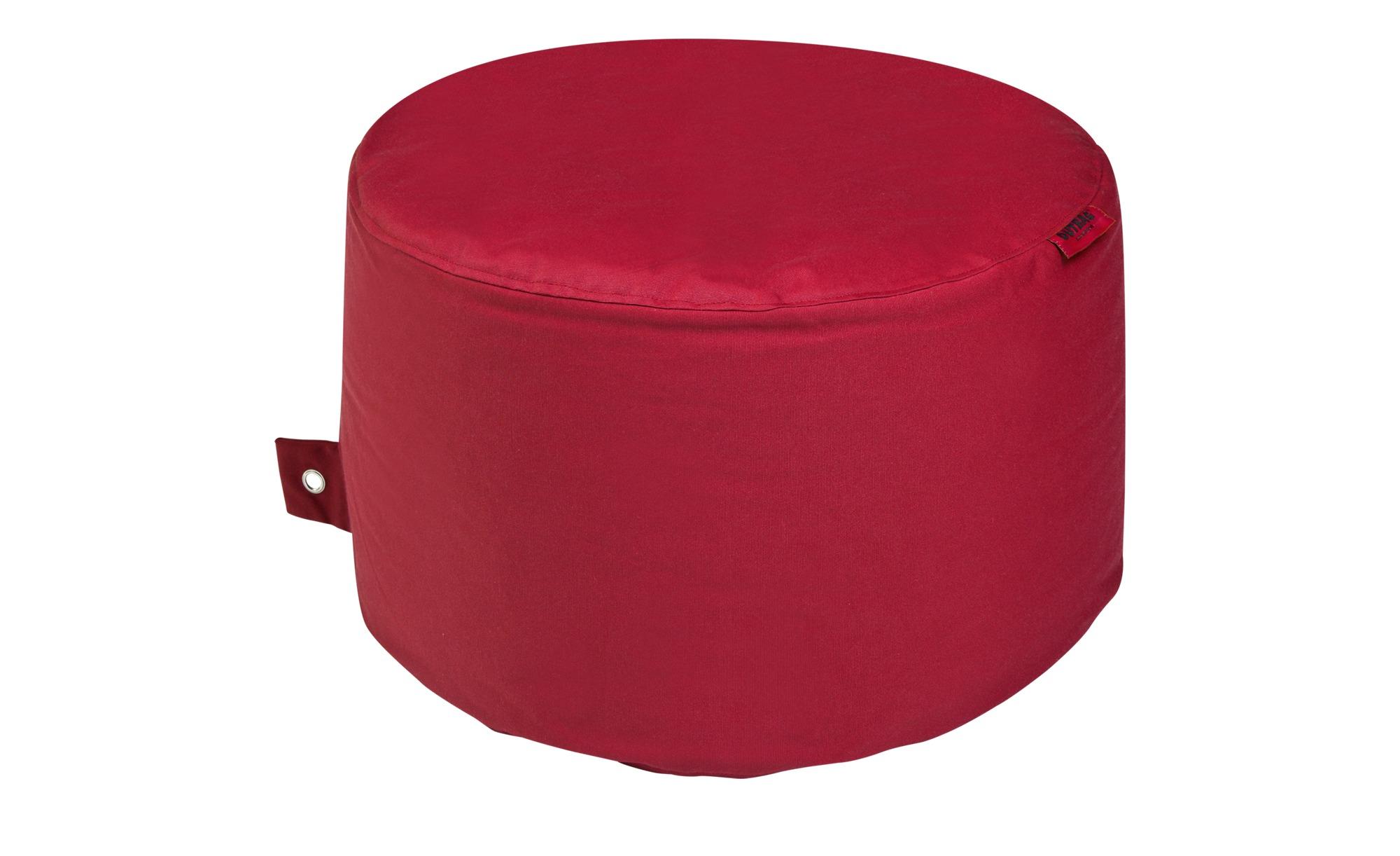 Sitzsack  Rock Plus ¦ rot ¦ Maße (cm): H: 35 Ø: [60.0] Garten > Auflagen & Kissen > Outdoor-Sitzsäcke - Höffner