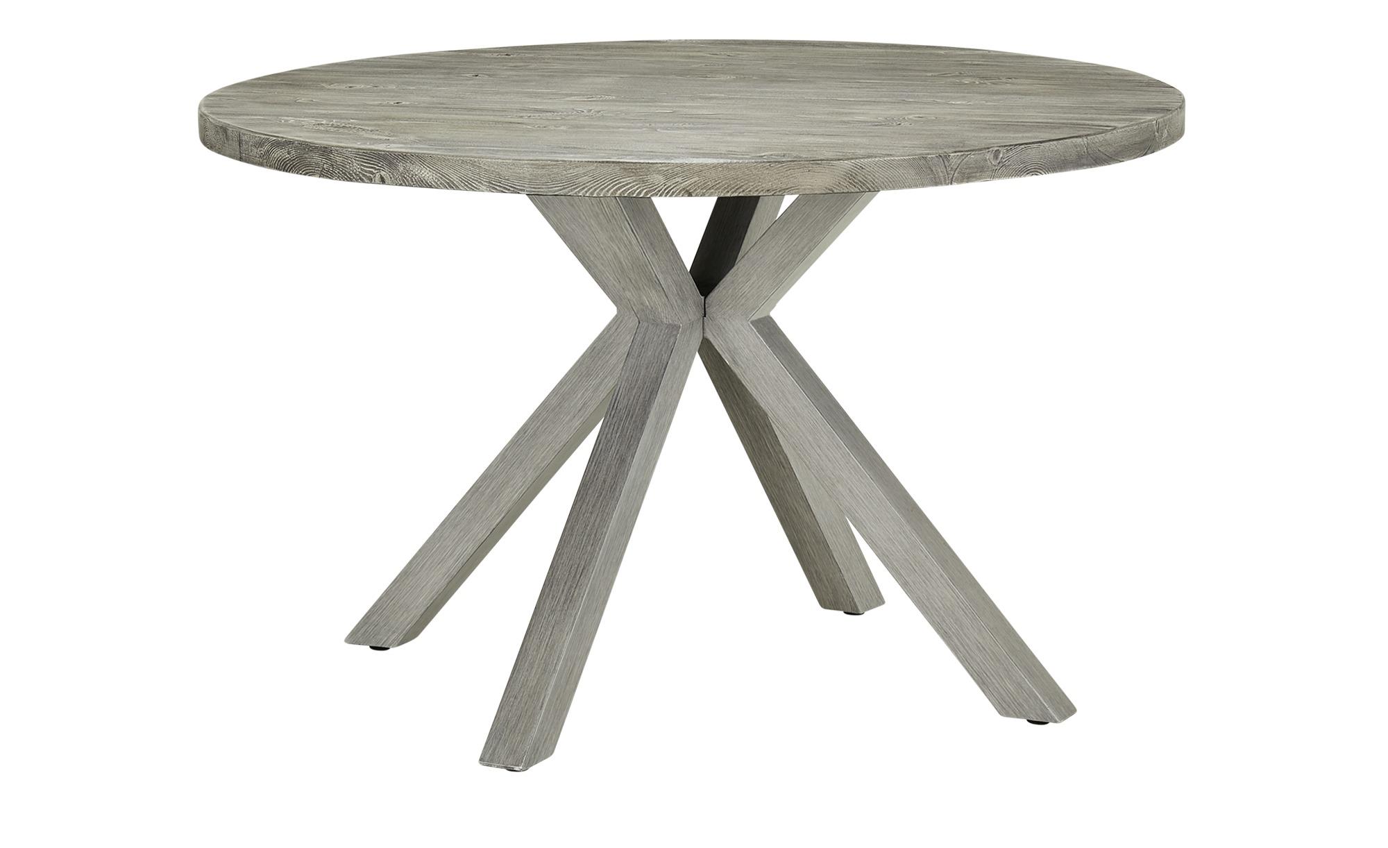 a casa mia Tisch  Palermo ¦ grau ¦ Maße (cm): H: 75 Ø: 121.5 Garten > Gartenmöbel > Gartentische - Höffner
