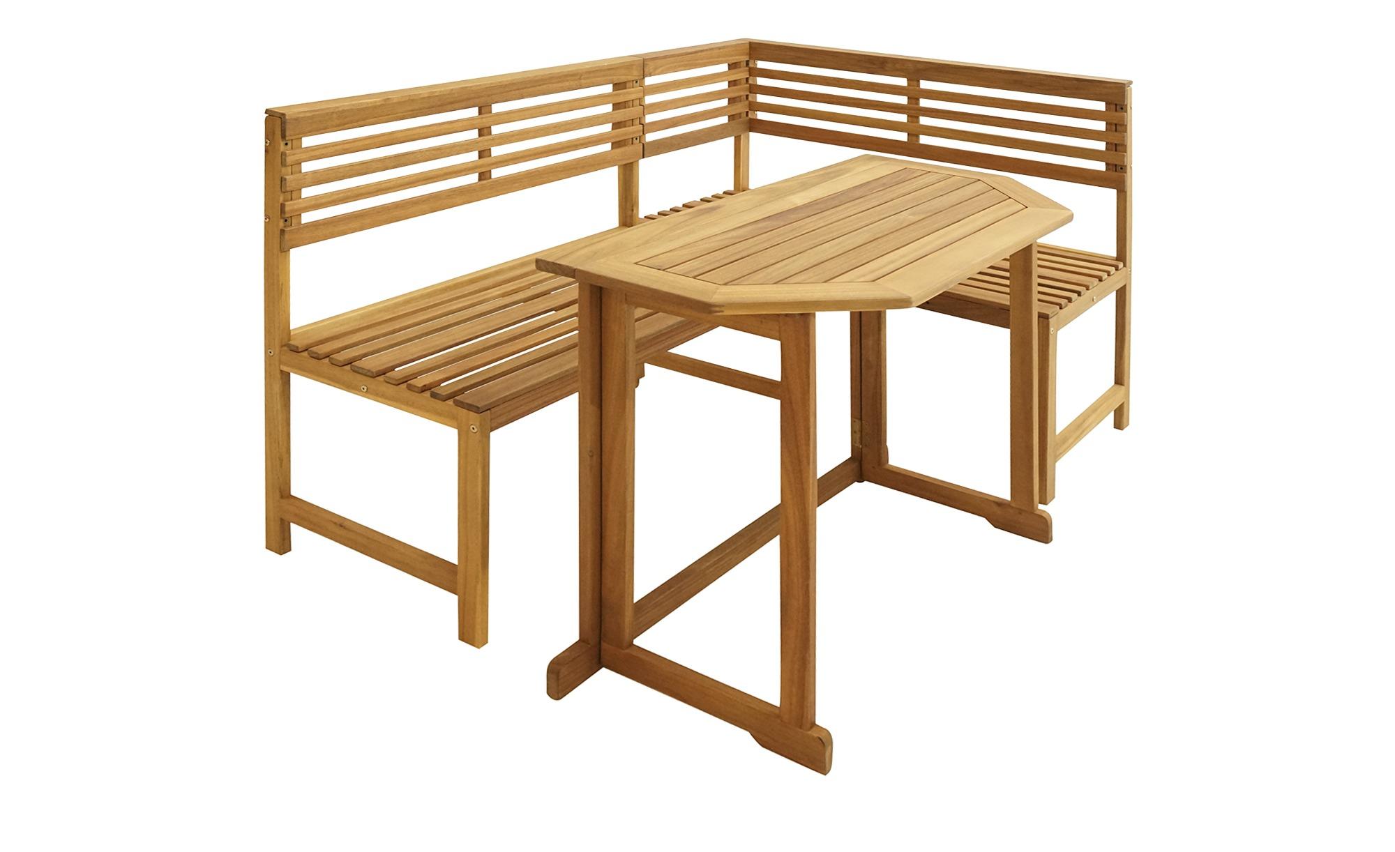 Balkonset ¦ holzfarben ¦ Akazie ¦ Maße (cm): B: 150 H: 91 Garten > Gartenmöbel > Gartenmöbel Sets - Höffner