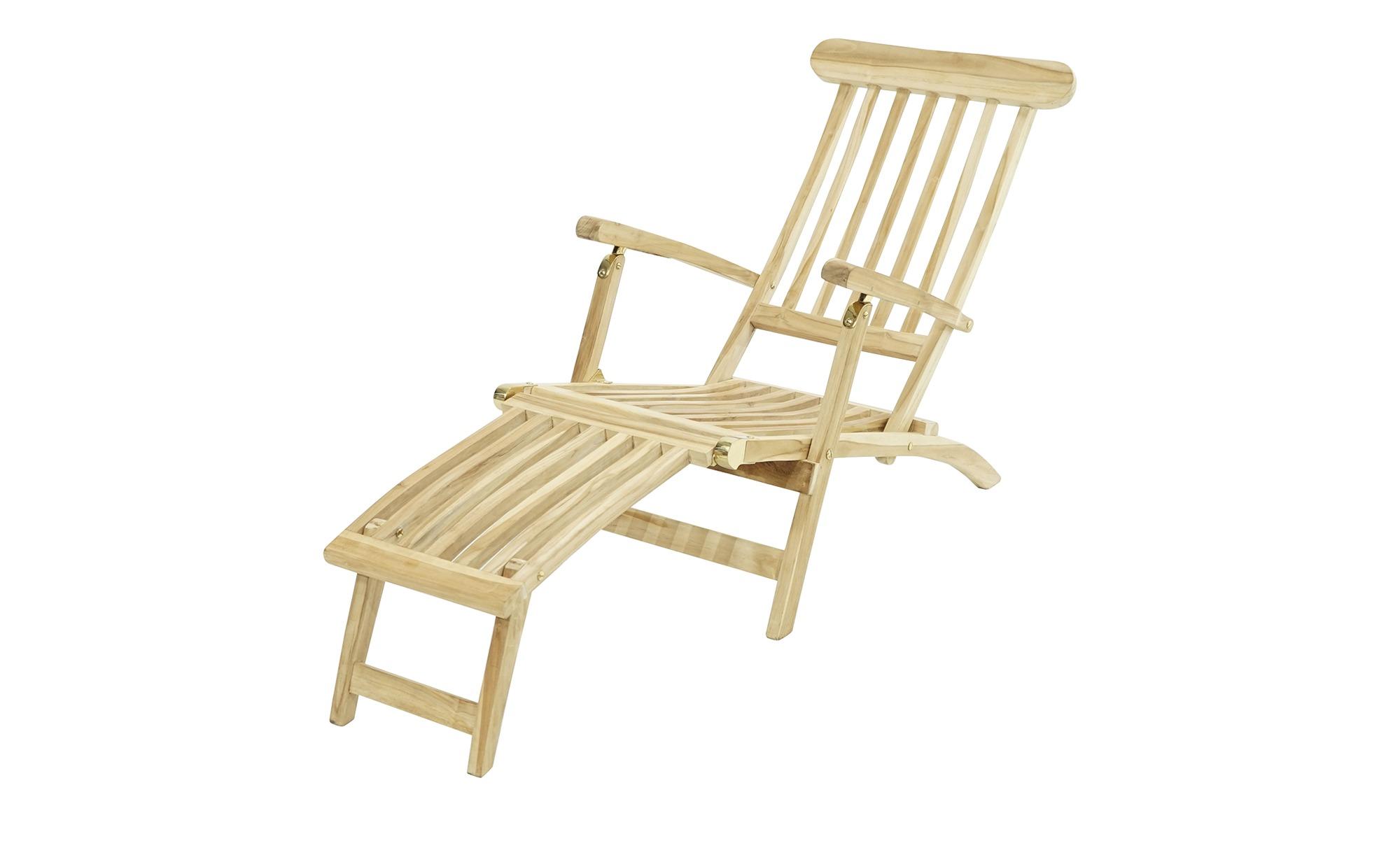 Deckchair  Titanic ¦ holzfarben ¦ Teakholz ¦ Maße (cm): B: 166 H: 96 T: 60 Garten > Gartenmöbel > Gartenliegen - Höffner