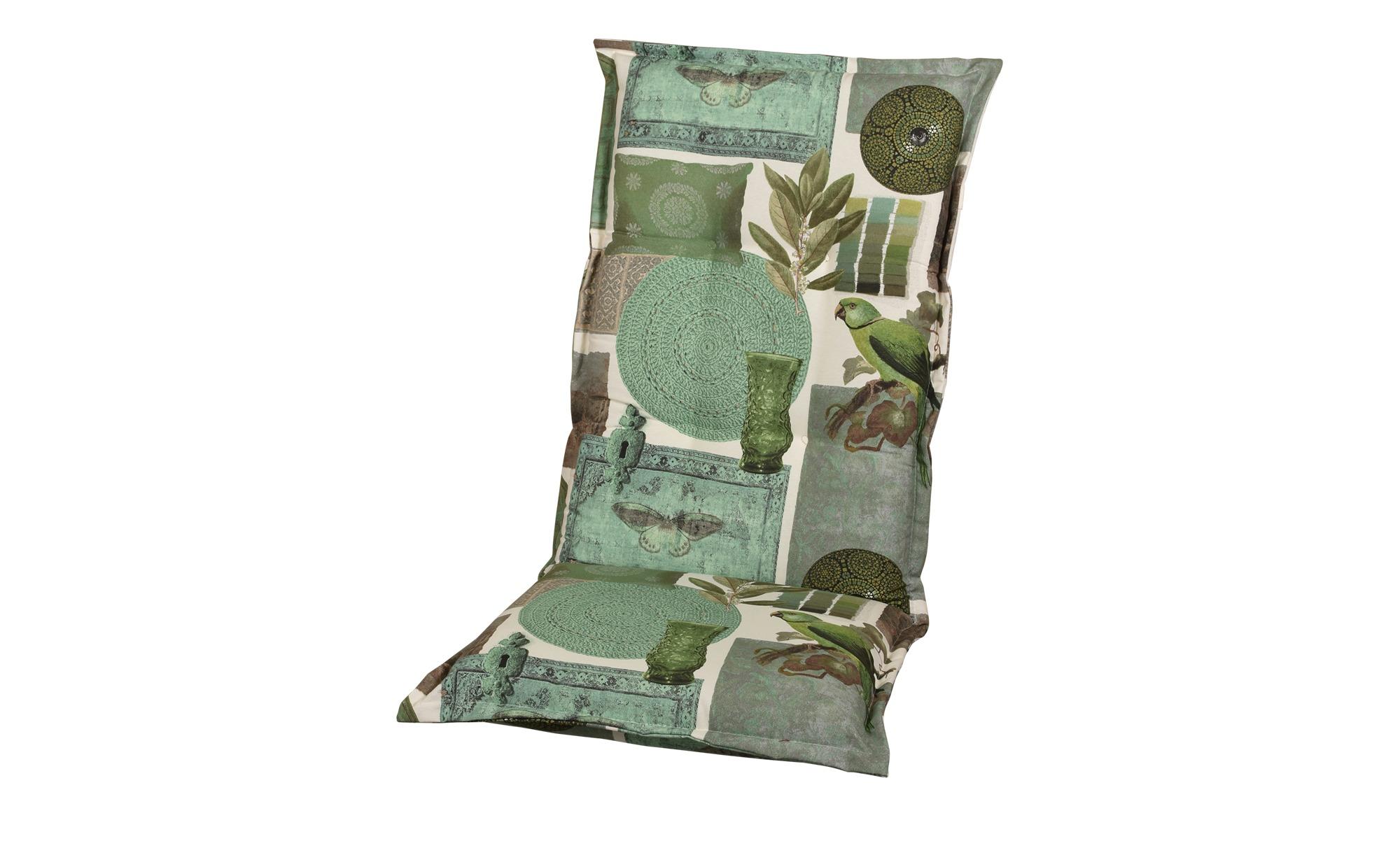 Auflage  Ceylon ¦ grün ¦ Maße (cm): B: 50 H: 9 Garten > Auflagen & Kissen > Hochlehner-Auflagen - Höffner
