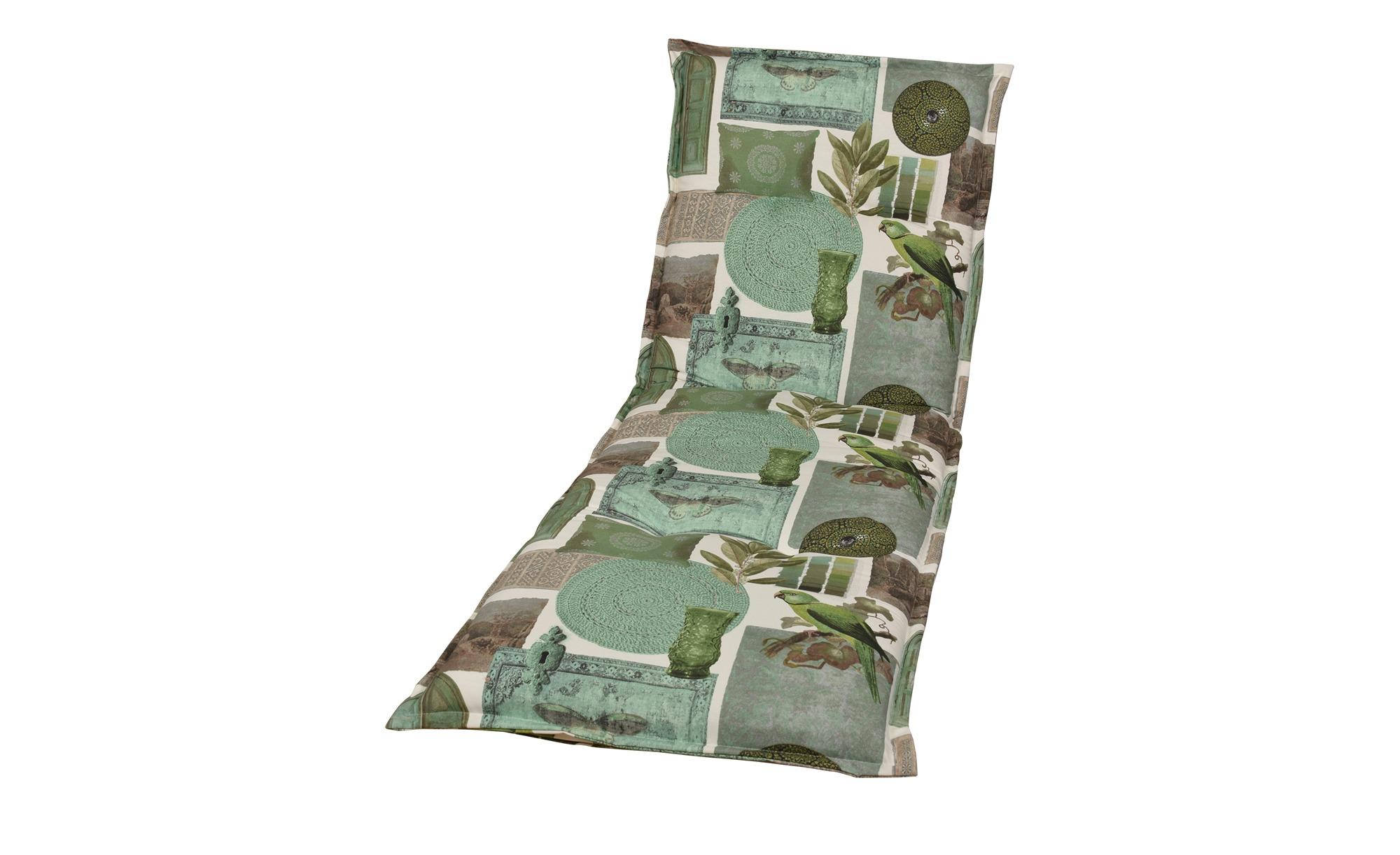 Auflage  Ceylon ¦ grün ¦ Maße (cm): B: 63 H: 10 Garten > Auflagen & Kissen > Gartenliegen-Auflagen - Höffner