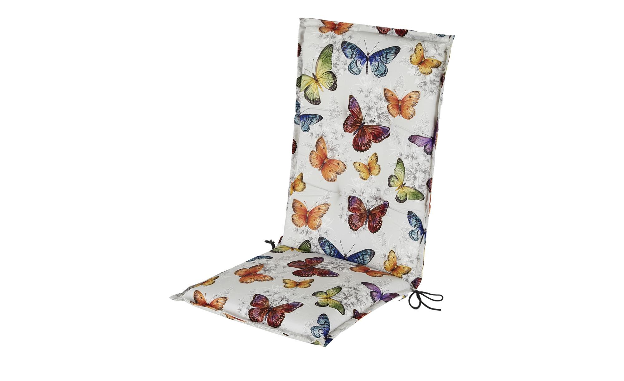 Auflage   Butterfly ¦ mehrfarbig ¦ Maße (cm): B: 50 H: 9 Garten > Auflagen & Kissen > Hochlehner-Auflagen - Höffner