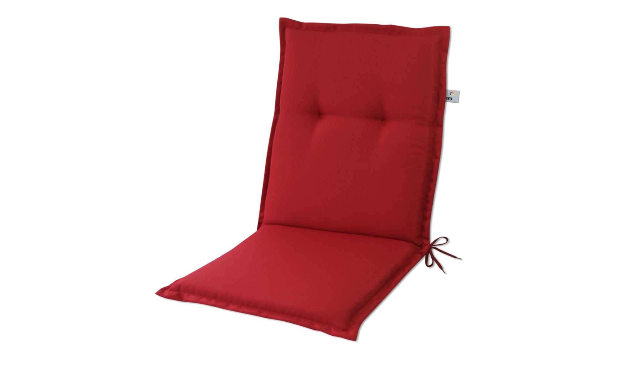 KETTLER Polska Auflage  Linda Tango Rot ¦ rot ¦ Maße (cm): B: 50 H: 6 Garten > Auflagen & Kissen > Niederlehner-Auflagen - Höffner
