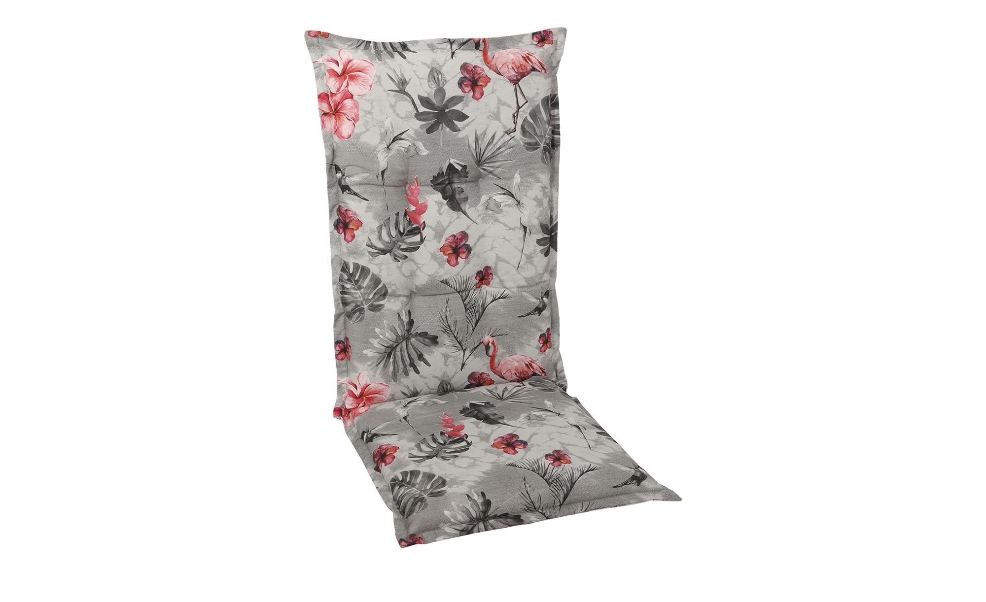 Auflagen   Flamingo ¦ grau ¦ Maße (cm): B: 50 H: 7 Garten > Auflagen & Kissen > Hochlehner-Auflagen - Höffner