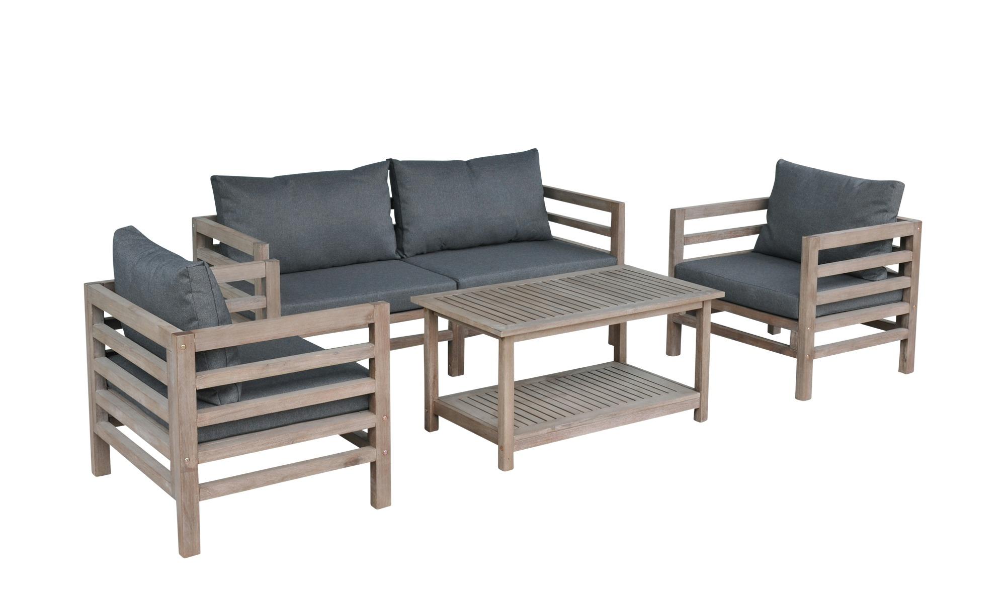 Loungeset  Derby Garten > Gartenmöbel > Gartenmöbel Sets - Höffner | Garten > Gartenmöbel > Loungemöbel-Garten | Akazienholz - Gebeizt - Gebürstet - Holz | Möbel Höffner DE