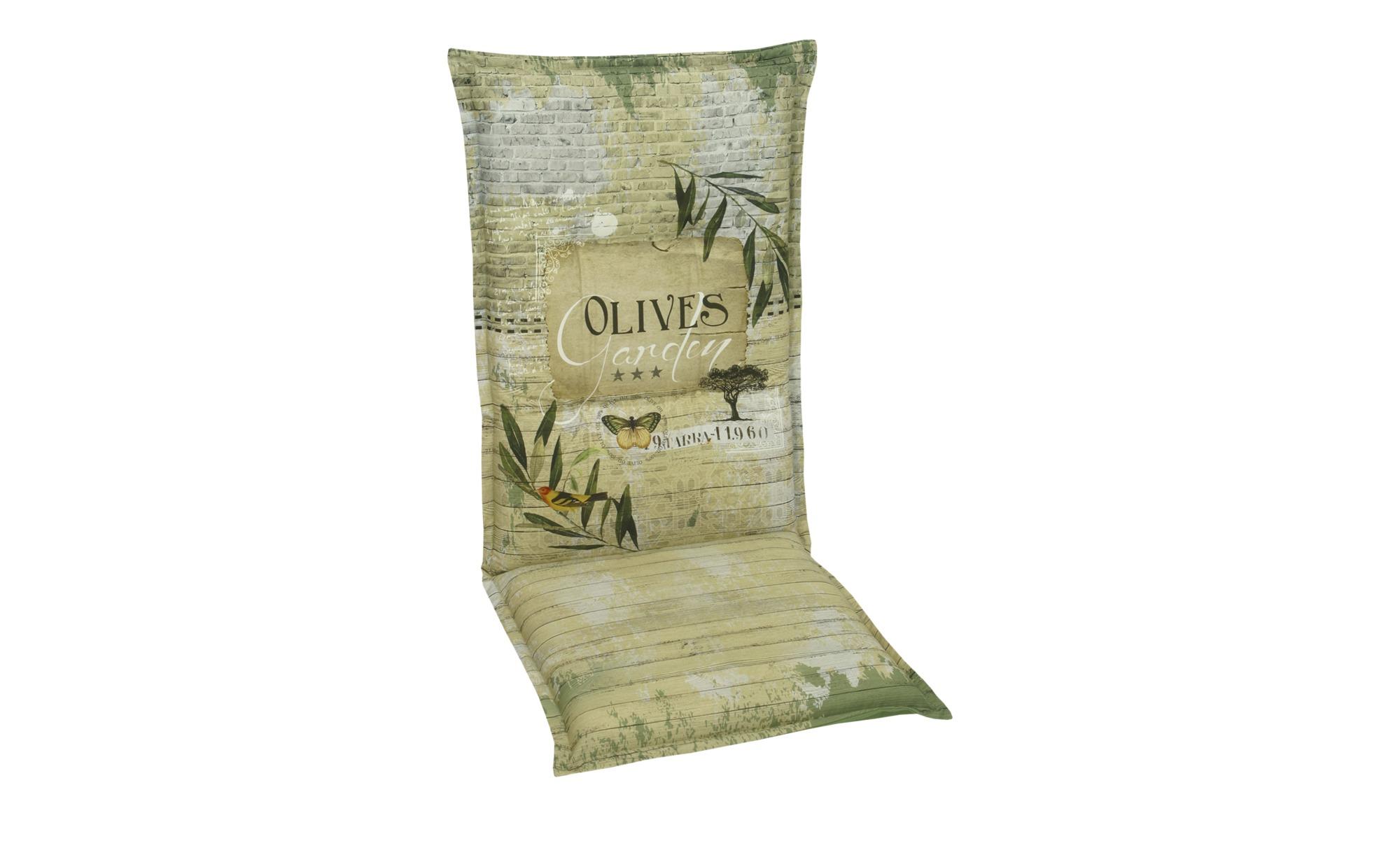 Auflage  Olives ¦ grün ¦ Maße (cm): B: 50 H: 7 Garten > Auflagen & Kissen > Hochlehner-Auflagen - Höffner