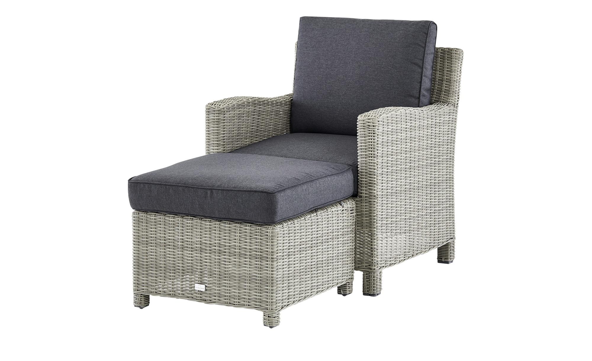 Lounge-Sessel   Palma ¦ creme ¦ Aluminium pulverbeschichtet/ PE-Geflecht ¦ Maße (cm): B: 74 H: 85 T: 80 Garten > Gartenmöbel > Gartensessel - Höffner