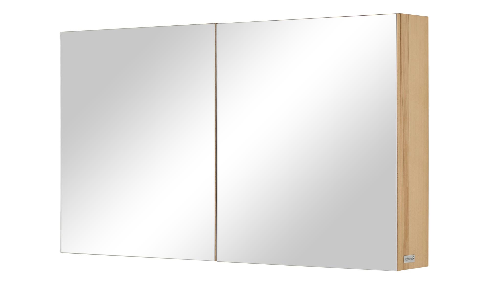 Wohnwert Spiegelschrank  Capri ¦ holzfarben ¦ Maße (cm): B: 120 H: 70 T: 18 Schränke > Badschränke > Spiegelschränke - Höffner   Bad > Badmöbel   Holzfarben   Holzwerkstoff - Furniert   Möbel Höffner DE