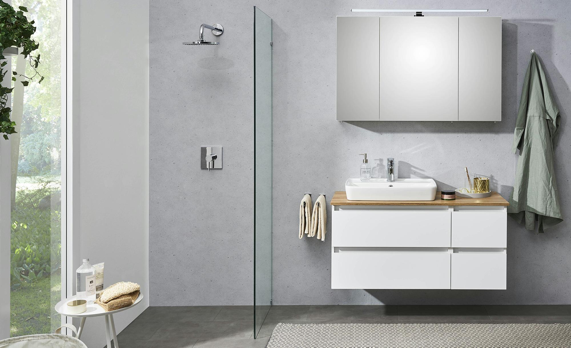 Waschtischkombination Baalensee ¦ weiß ¦ Maße (cm): B: 113 H: 64,2 T: 50  Schränke > Badschränke > Komplett-Badkombinationen - Höffner