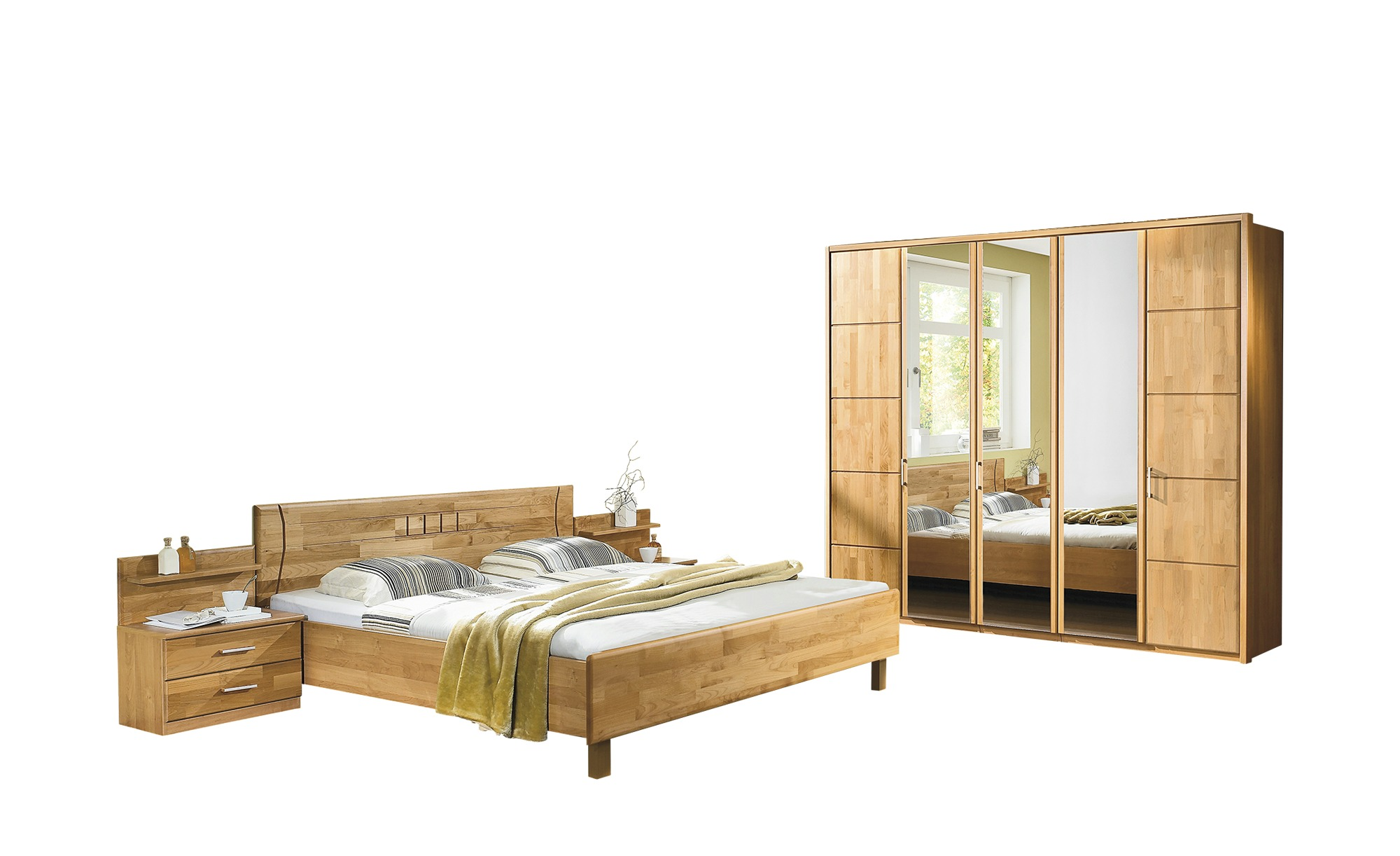 Woodford Komplett-Schlafzimmer 3-teilig  Belisa ¦ holzfarben ¦ Maße (cm): B: 256 H: 216 T: 58 Komplett-Schlafzimmer - Höffner