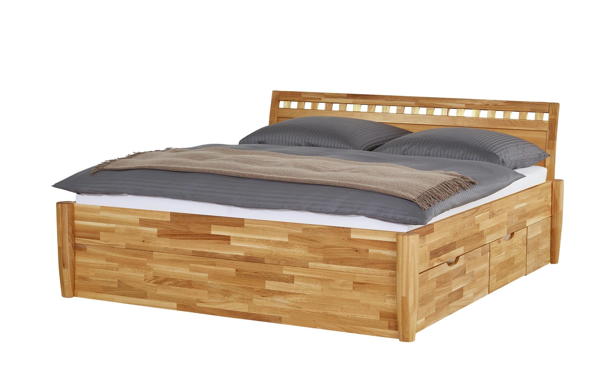 #Massivholz-Bettgestell mit Bettkasten Timber ¦ holzfarben ¦ Maße (cm): B: 176 H: 93 Betten > Futonbetten – Höffner#