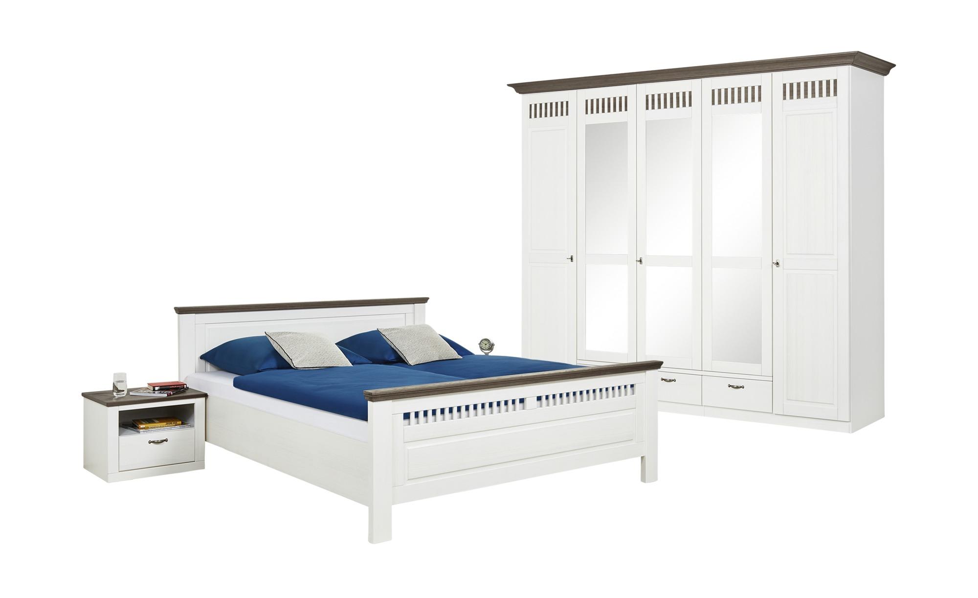 Woodford Schlafzimmer, 4-teilig Monza ¦ weiß ¦ Maße (cm): B: 262 H ...
