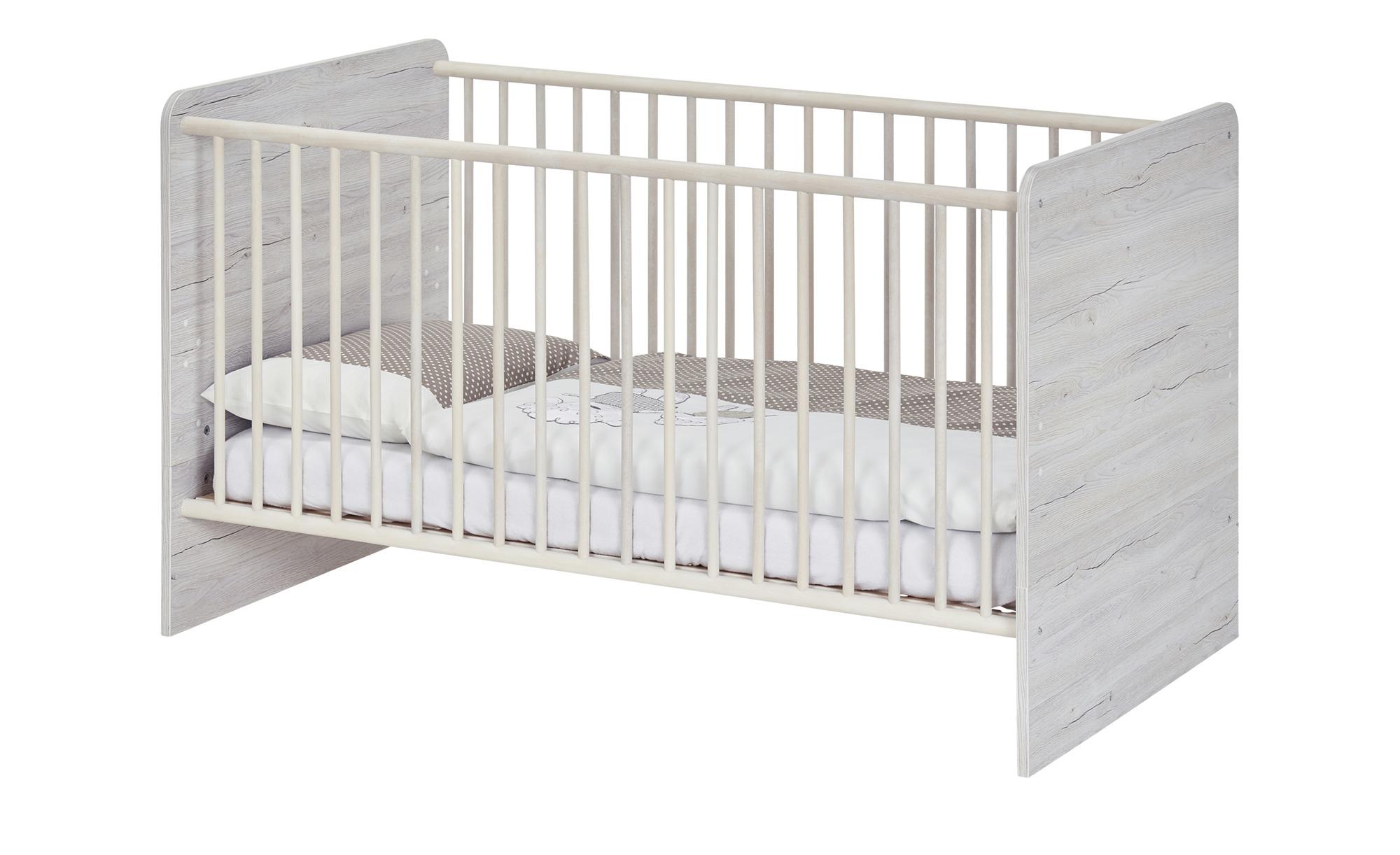 Kinderbett 70x140 grau Nick ¦ holzfarben ¦ Maße (cm): B: 74 H: 77 T: 150 Baby > Babymöbel > Babybetten - Höffner | Kinderzimmer > Kinderbetten > Kinderbetten | Holzfarben | Möbel Höffner DE
