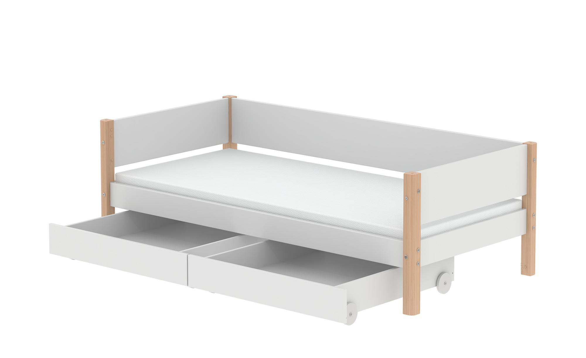 FLEXA Einzelbett mit 2 Schubkästen  Flexa White ¦ weiß ¦ Maße (cm): B: 210 H: 66,5 T: 101 Kindermöbel > Kinderbetten - Höffner