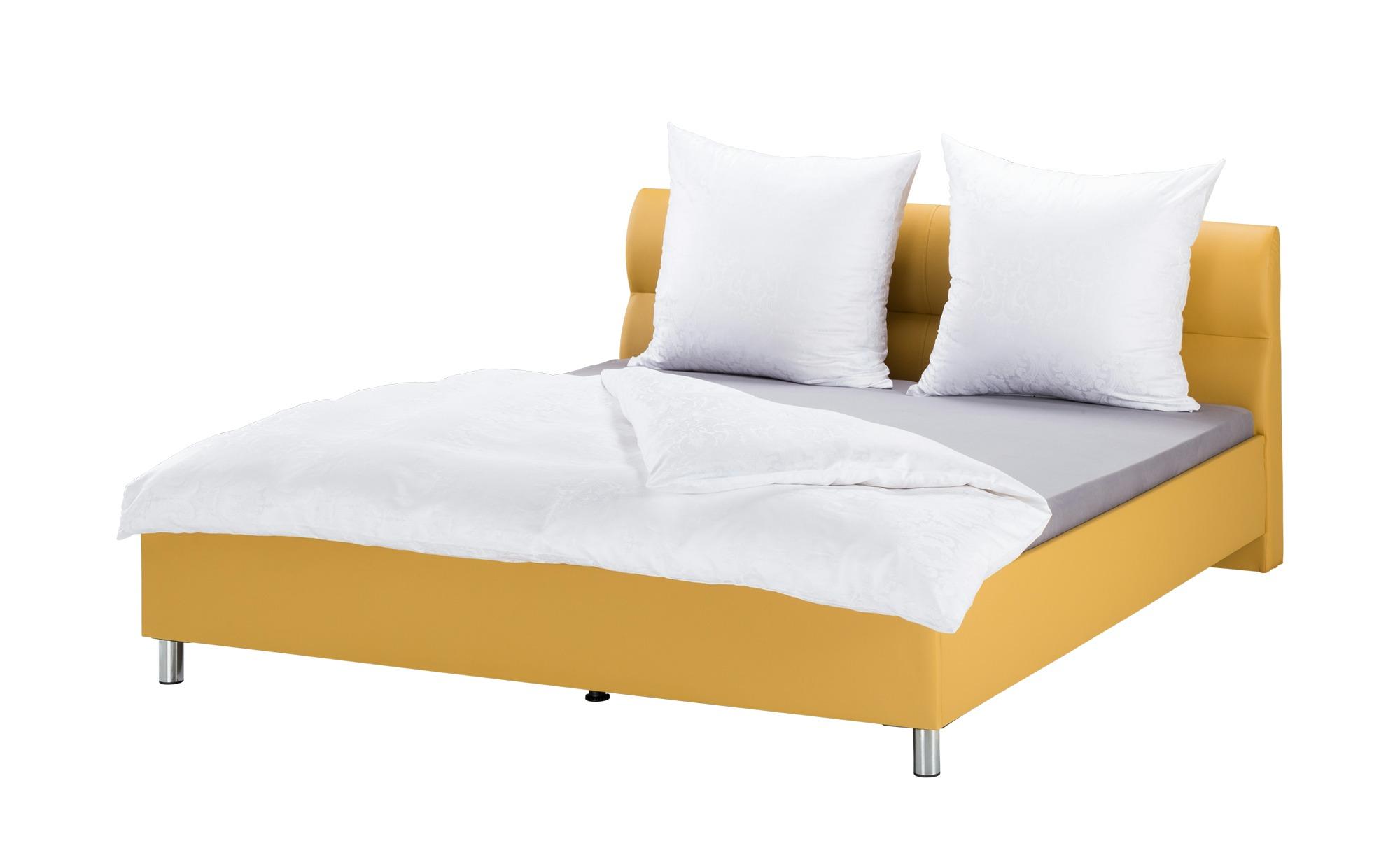 Polsterbettgestell 180x200 - gelb Bereni ¦ gelb ¦ Maße (cm): B: 186 Betten > Polsterbetten - Höffner