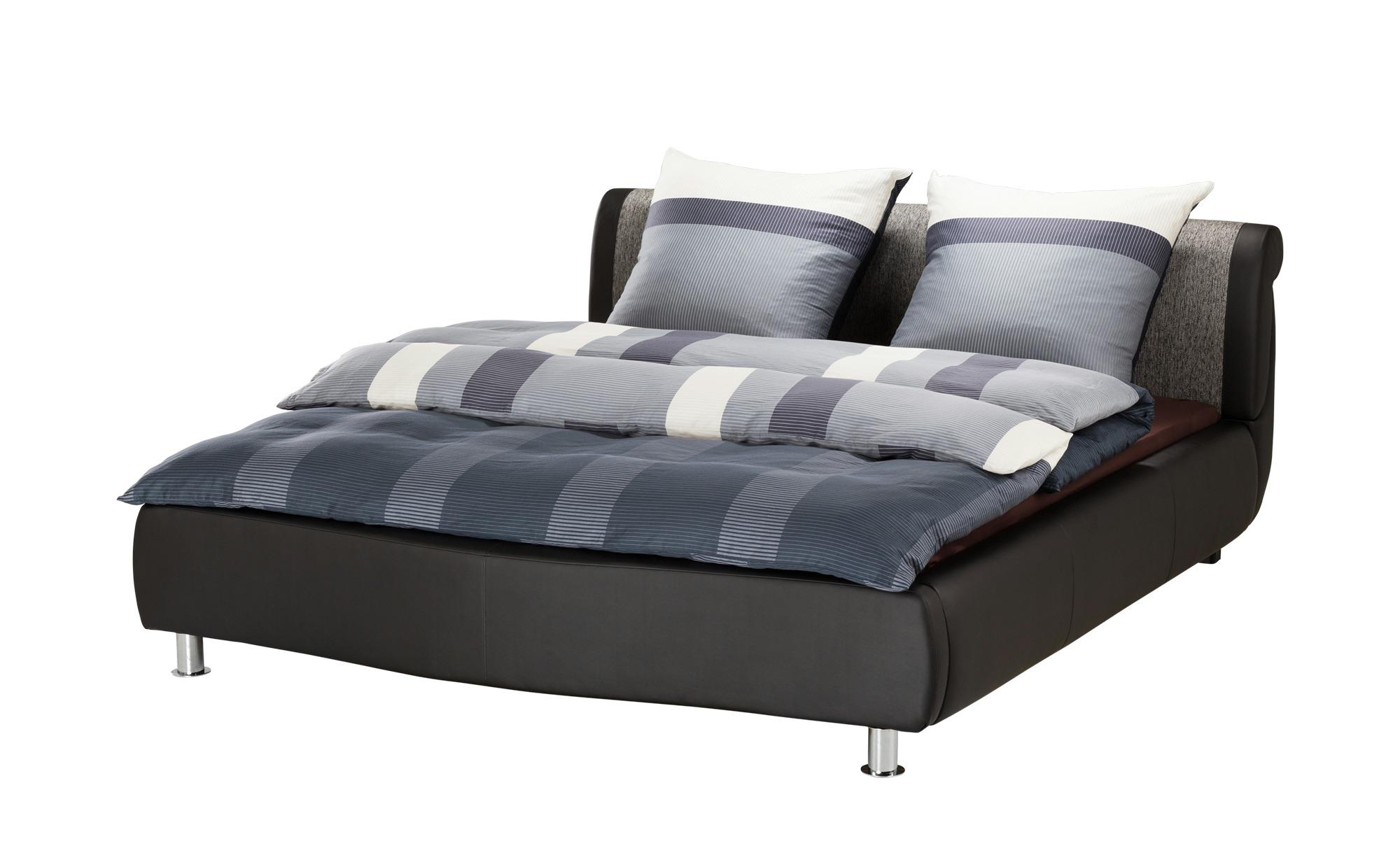 Polsterbettgestell 140x200 - schwarz/grau Masia ¦ schwarz ¦ Maße (cm): B: 163 Betten > Polsterbetten - Höffner