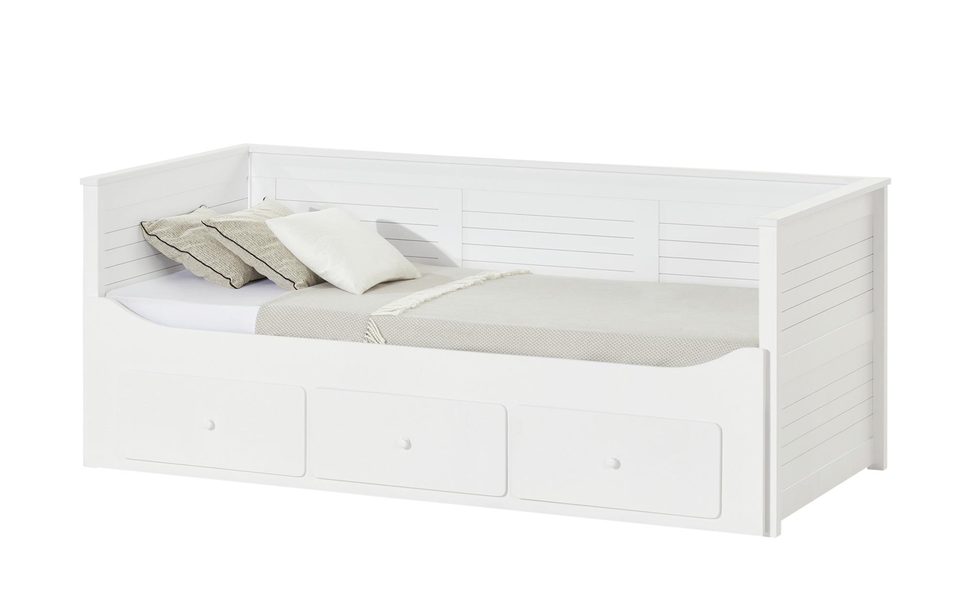 Einzelbett mit Schubkästen 90x200 - weiß Merton Duo ¦ weiß ¦ Maße (cm): B: 97,7 H: 86 T: 210,7 Betten > Futonbetten - Höffner