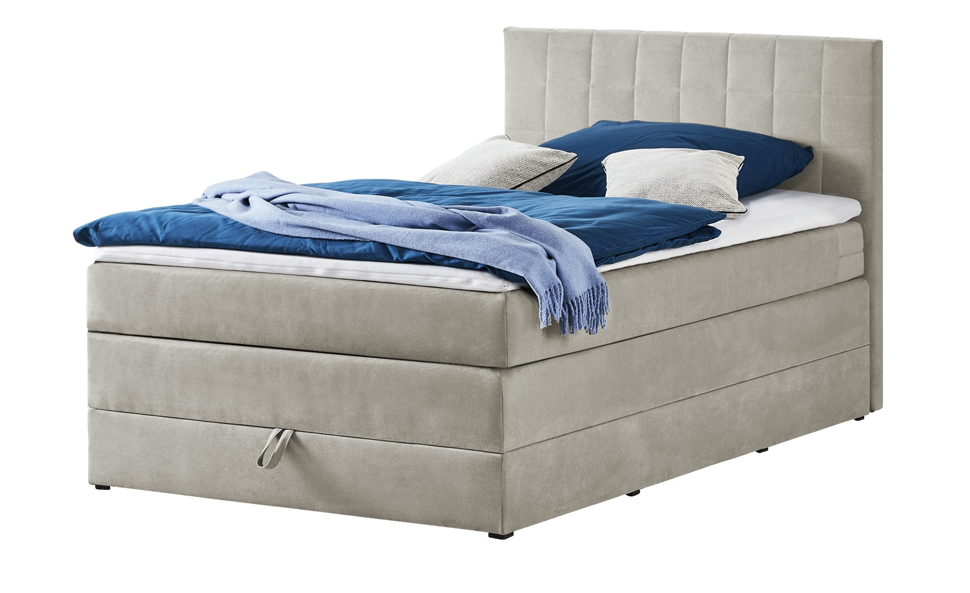 Boxspringbett 120x200 - sand Prince ¦ beige ¦ Maße (cm): B: 121 H: 107 T: 209 Betten > Einzelbetten - Höffner