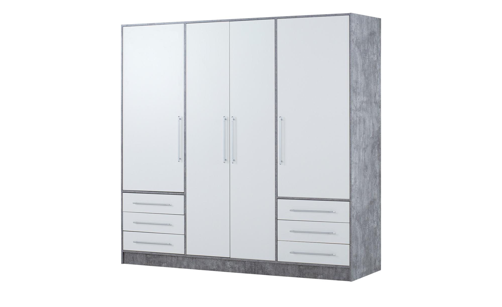 Kleiderschrank  Leek ¦ grau Schränke > Schranksysteme - Höffner
