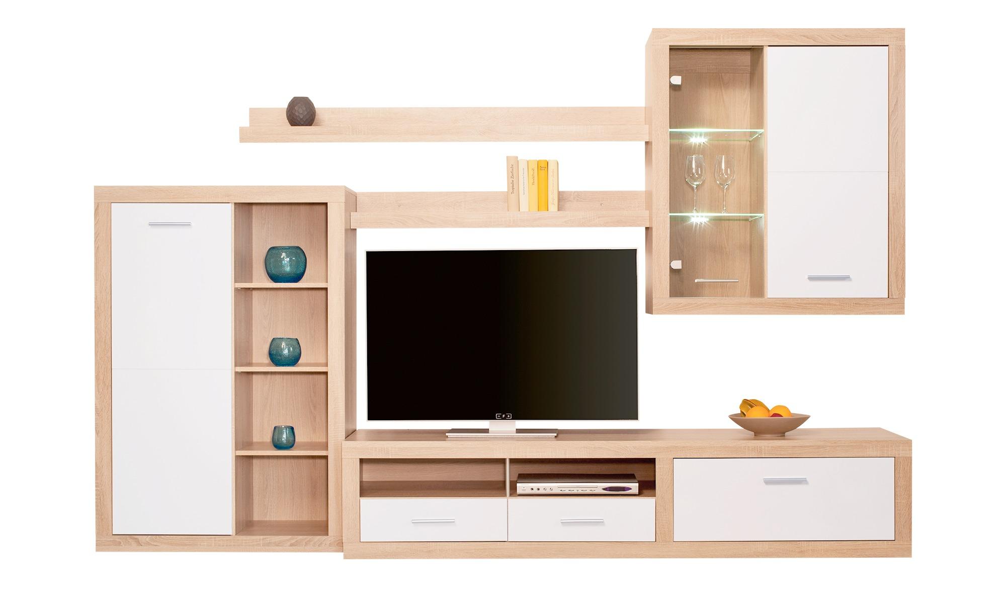 Moderne Wohnwand  Cuevo ¦ holzfarben ¦ Maße (cm): B: 292 H: 189 T: 48 Wohnwände - Höffner