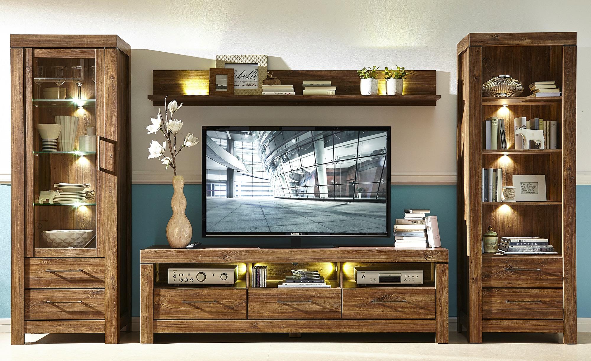 TV-Lowboard  Rubino ¦ holzfarben ¦ Maße (cm): B: 200 H: 60 T: 54 Kommoden & Sideboards > Lowboards - Höffner