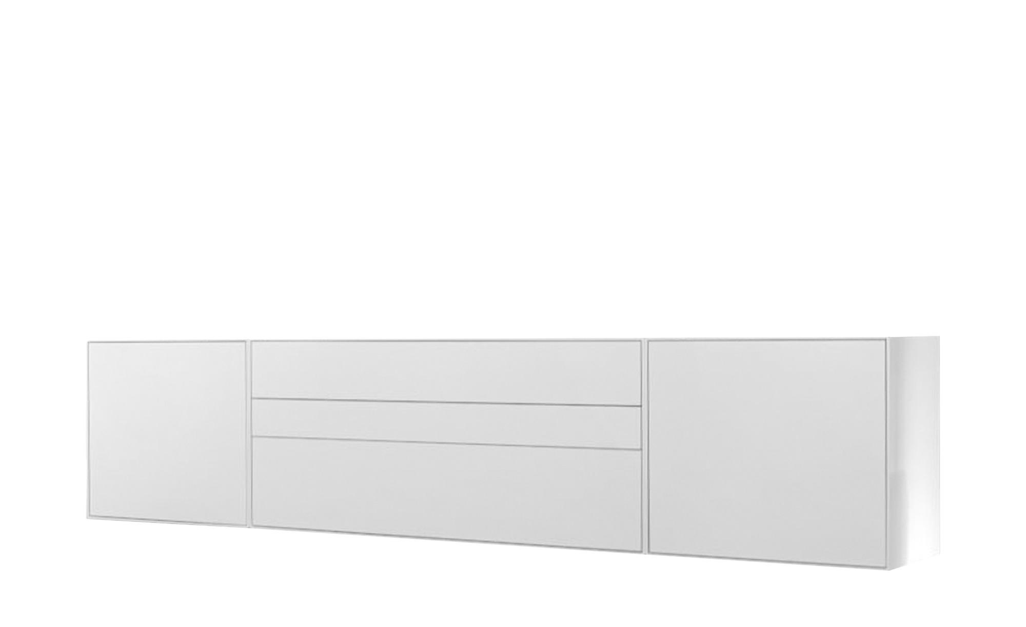 now! by hülsta Hänge-Sideboard 3-teilig  now! easy ¦ weiß ¦ Maße (cm): B: 256 H: 64 T: 45 Kommoden & Sideboards > Sideboards - Höffner | Wohnzimmer > Schränke > Sideboards | Weiß | Mdf - Lackiert | Möbel Höffner DE