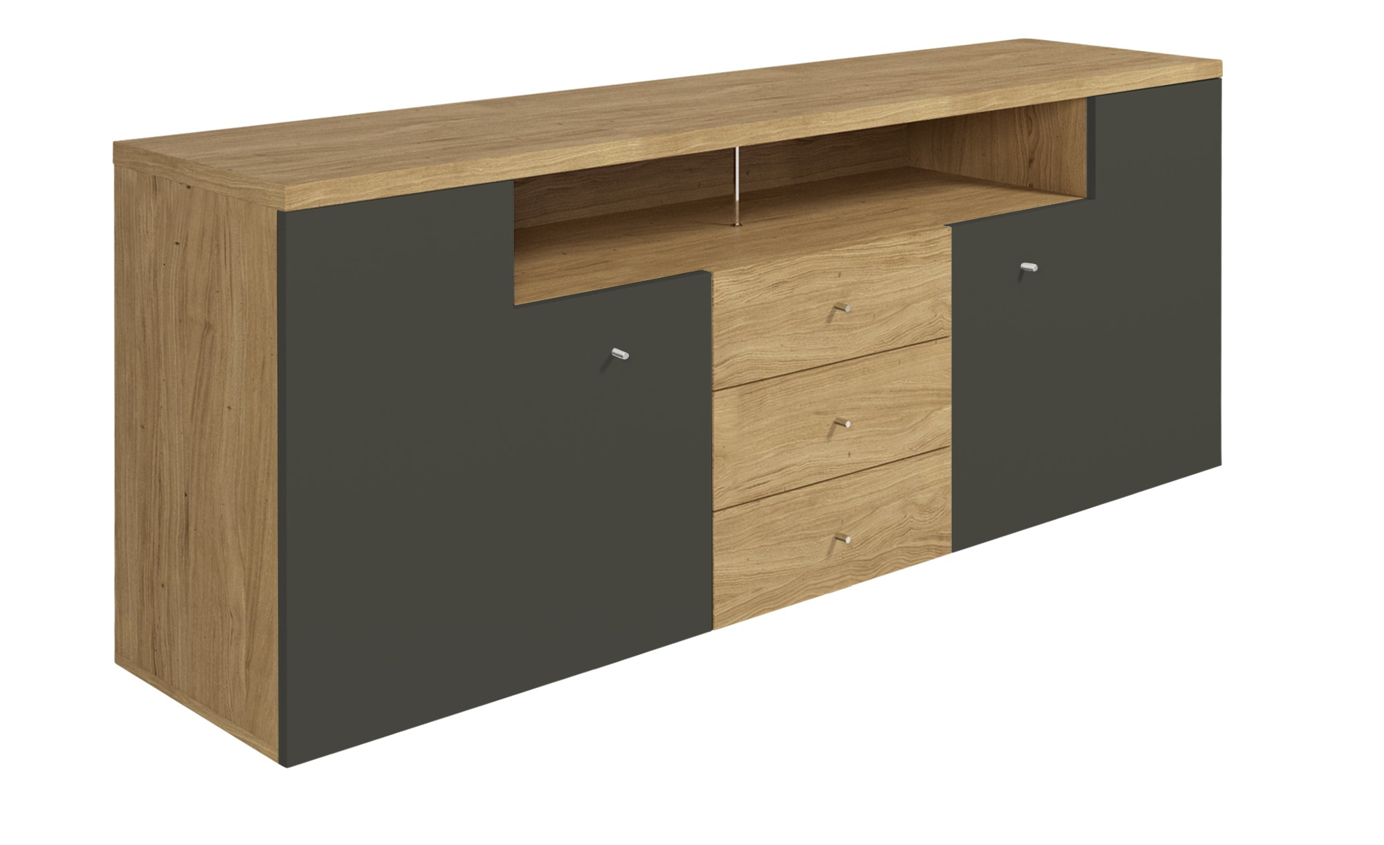 now! by hülsta Sideboard  hülsta now! time ¦ grau ¦ Maße (cm): B: 190 H: 74 T: 45 Kommoden & Sideboards > Sideboards - Höffner