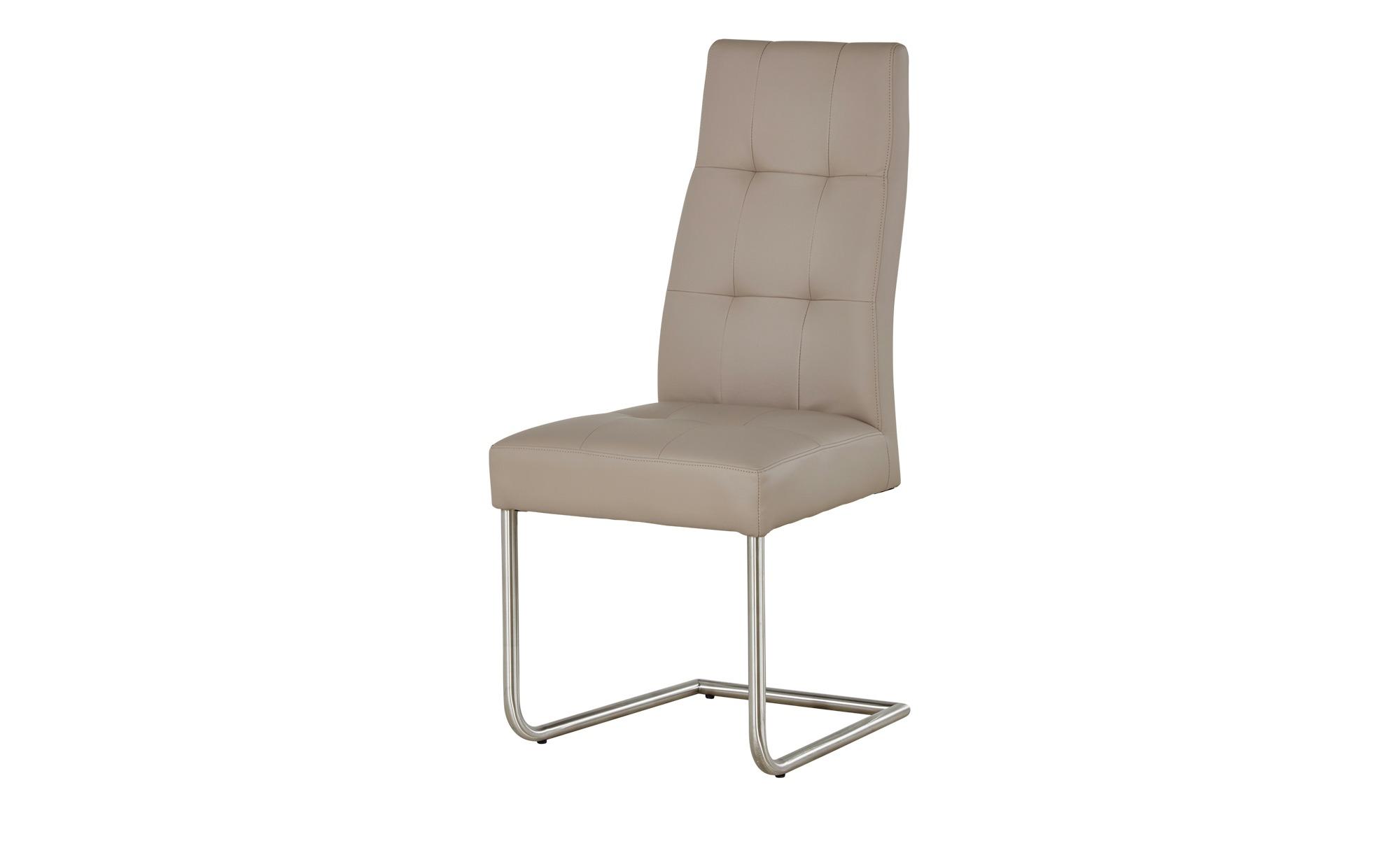 Woodford Kunstleder Schwingstuhl Thea beige 47 cm 104 cm 60 cm Stühle > Esszimmerstühle Möbel Kraft