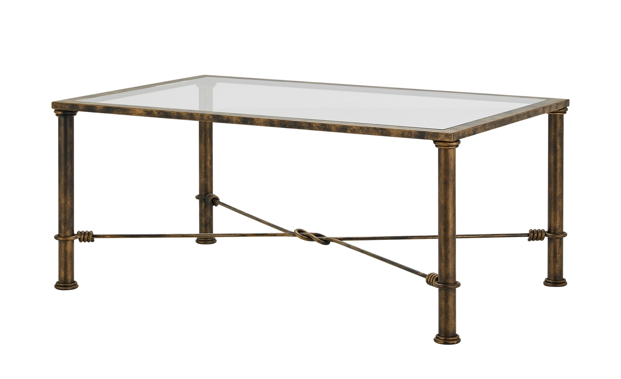 Couchtisch  Toscana ¦ gold ¦ Maße (cm): B: 70 H: 48 T: 70 Tische > Couchtische > Couchtische rechteckig - Höffner