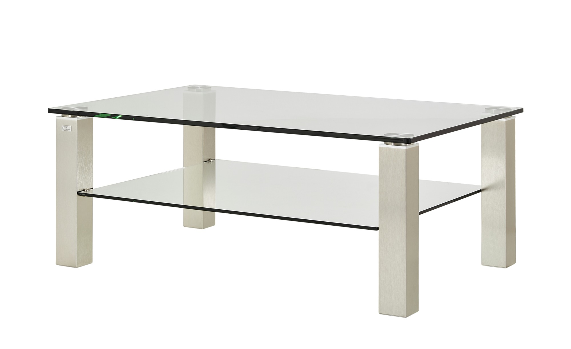 Couchtisch  Rimini ¦ silber ¦ Maße (cm): B: 80 H: 48,5 T: 80 Tische > Couchtische > Couchtische rechteckig - Höffner