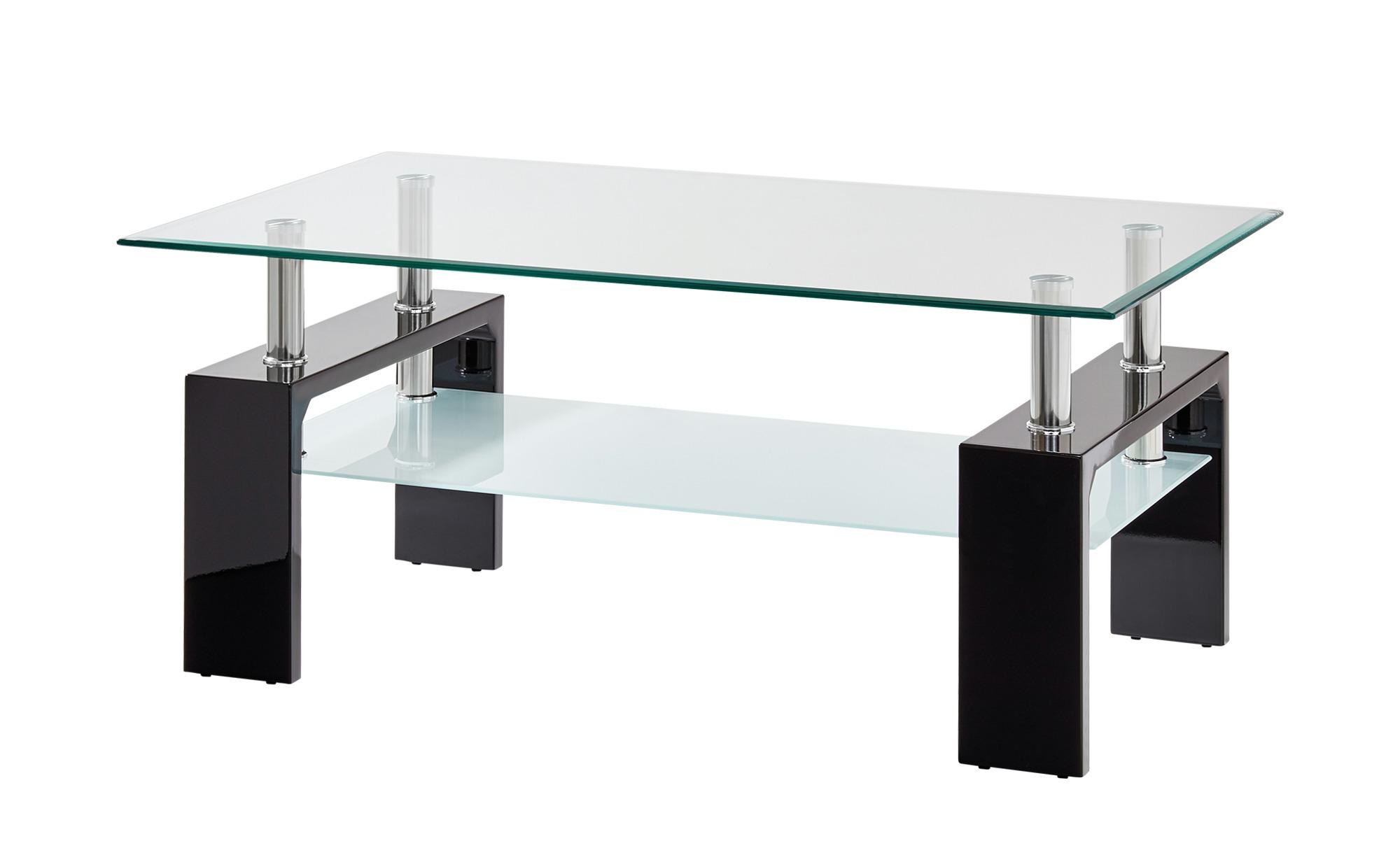Couchtisch  Elba ¦ schwarz ¦ Maße (cm): B: 60 H: 45 Tische > Couchtische > Couchtische rechteckig - Höffner