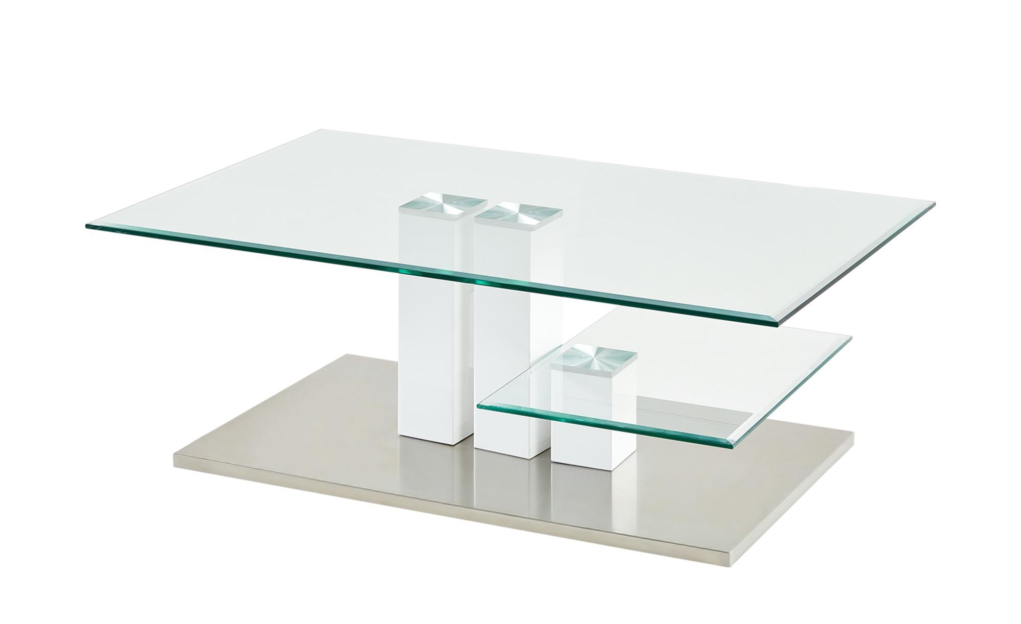 Couchtisch  Monserrat ¦ weiß ¦ Maße (cm): B: 110 H: 40 T: 70 Tische > Couchtische > Couchtische rechteckig - Höffner