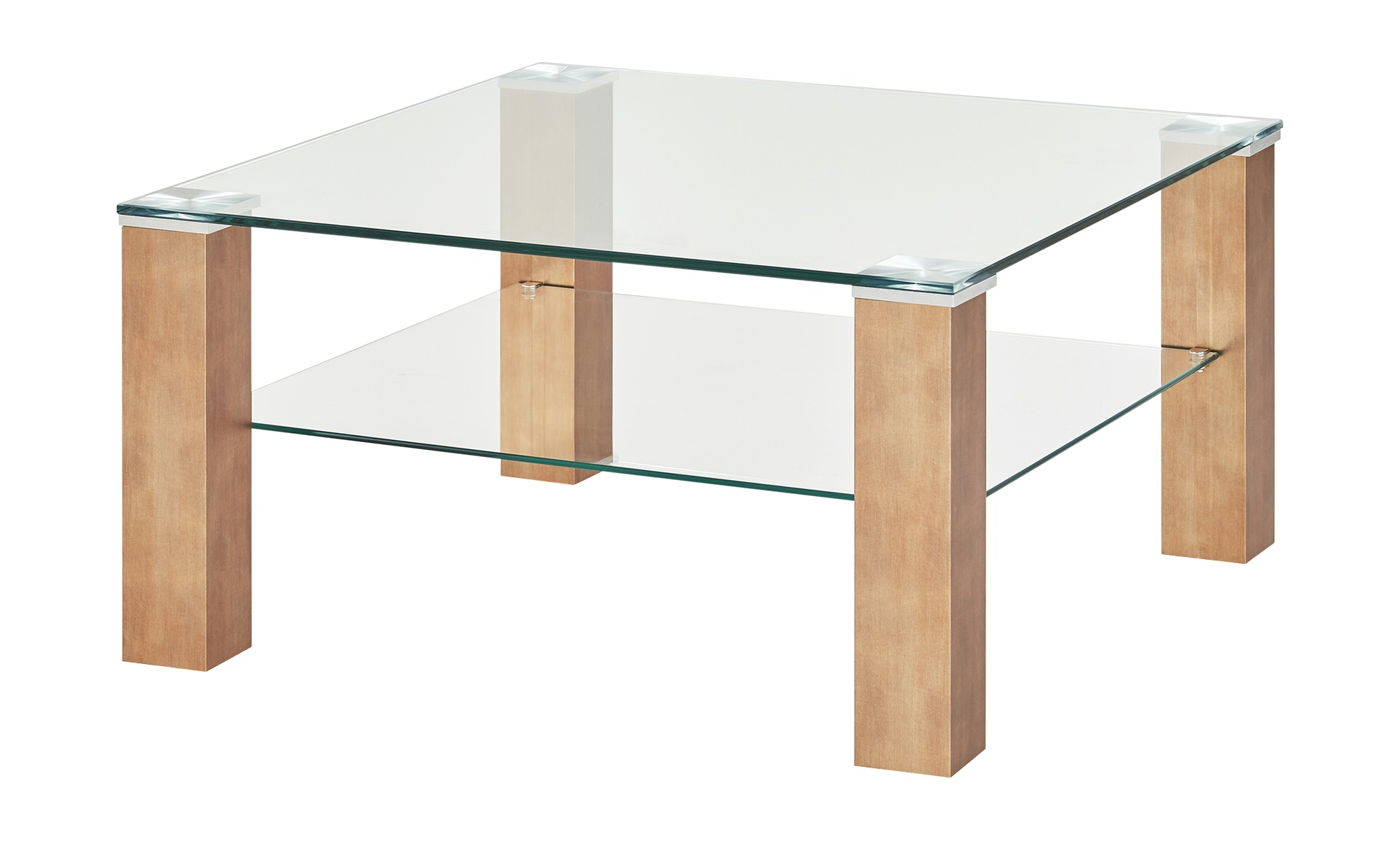 Couchtisch  Ancona ¦ transparent/klar ¦ Maße (cm): B: 75 H: 40 T: 75 Tische > Couchtische > Couchtische rechteckig - Höffner