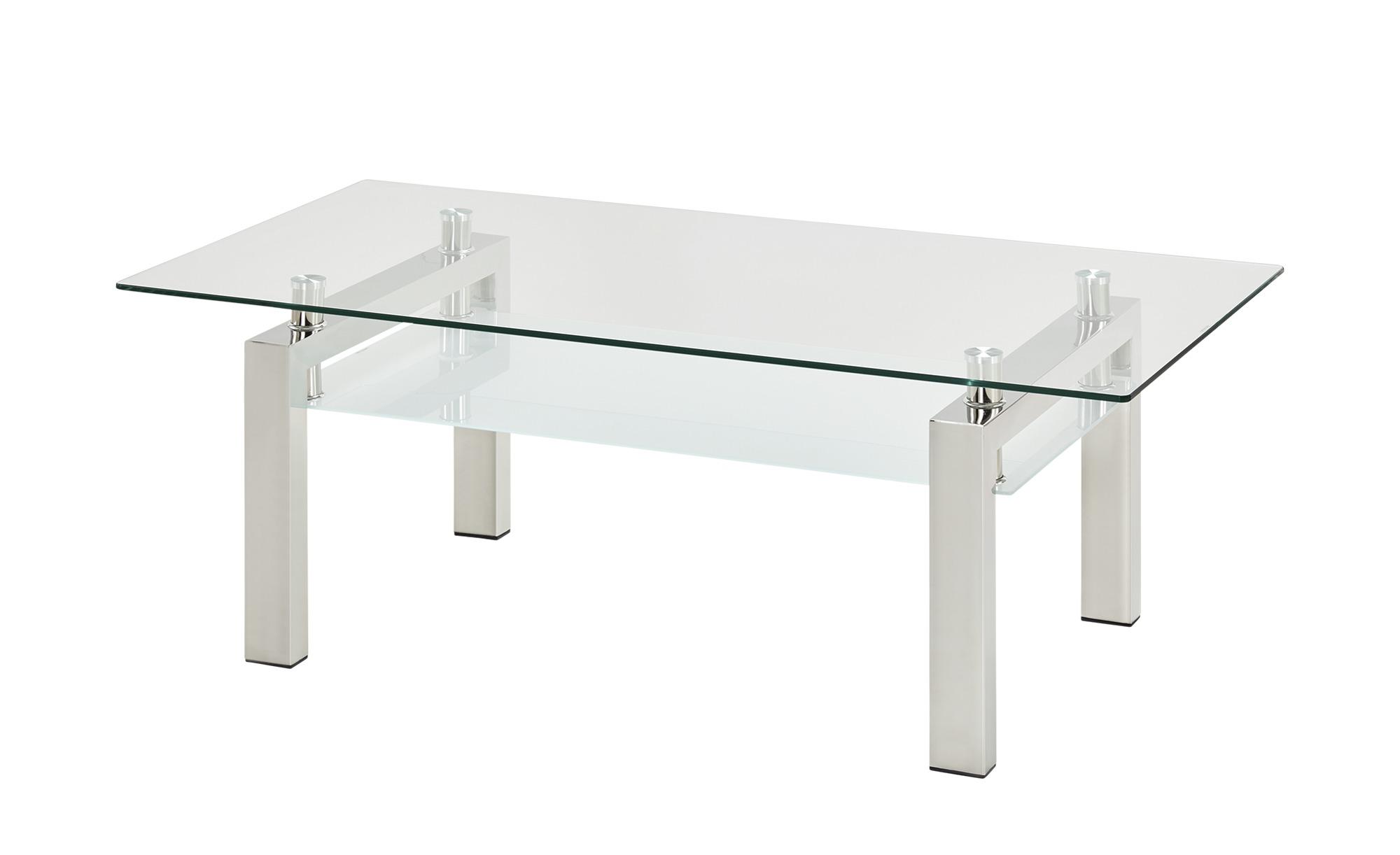 Couchtisch  Beno I ¦ transparent/klar ¦ Maße (cm): B: 60 H: 44 T: 60 Tische > Couchtische > Couchtische rechteckig - Höffner