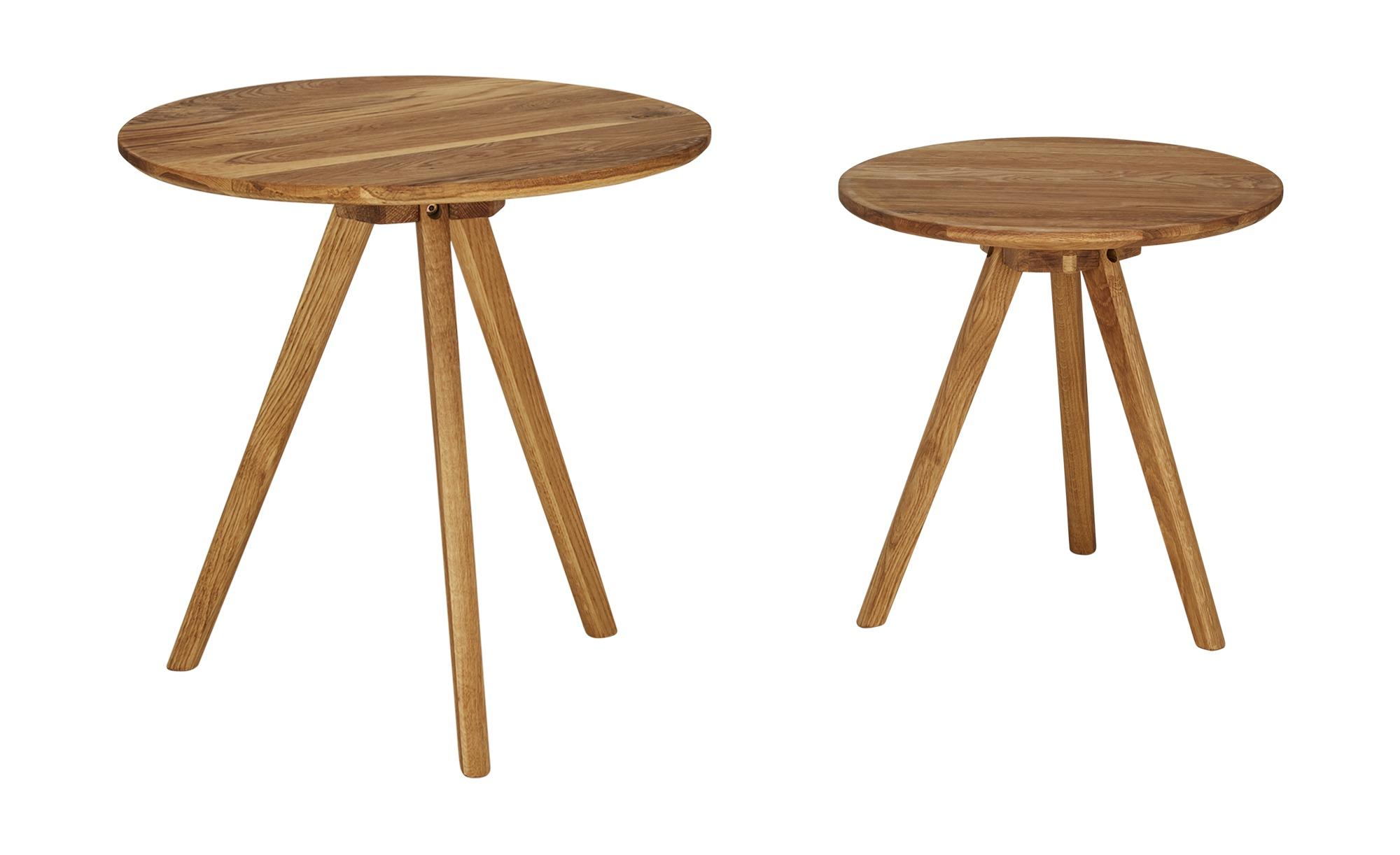 Couchtische, 2er-Set  Rotonda ¦ holzfarben ¦ Maße (cm): H: 50,5 Ø: 50 Tische > Couchtische > Couchtische rund - Höffner