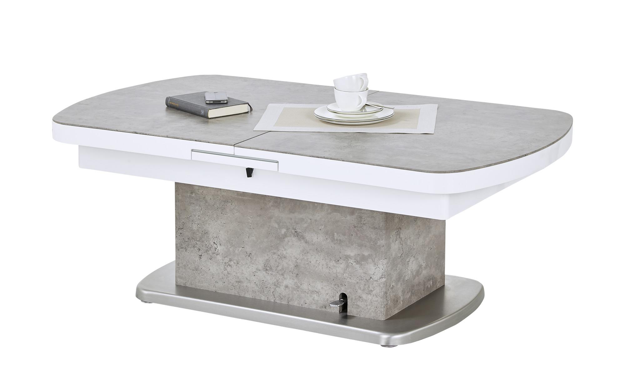 Couchtisch  Sizilien ¦ grau ¦ Maße (cm): B: 75 H: 50,5 Tische > Couchtische > Couchtische höhenverstellbar - Höffner