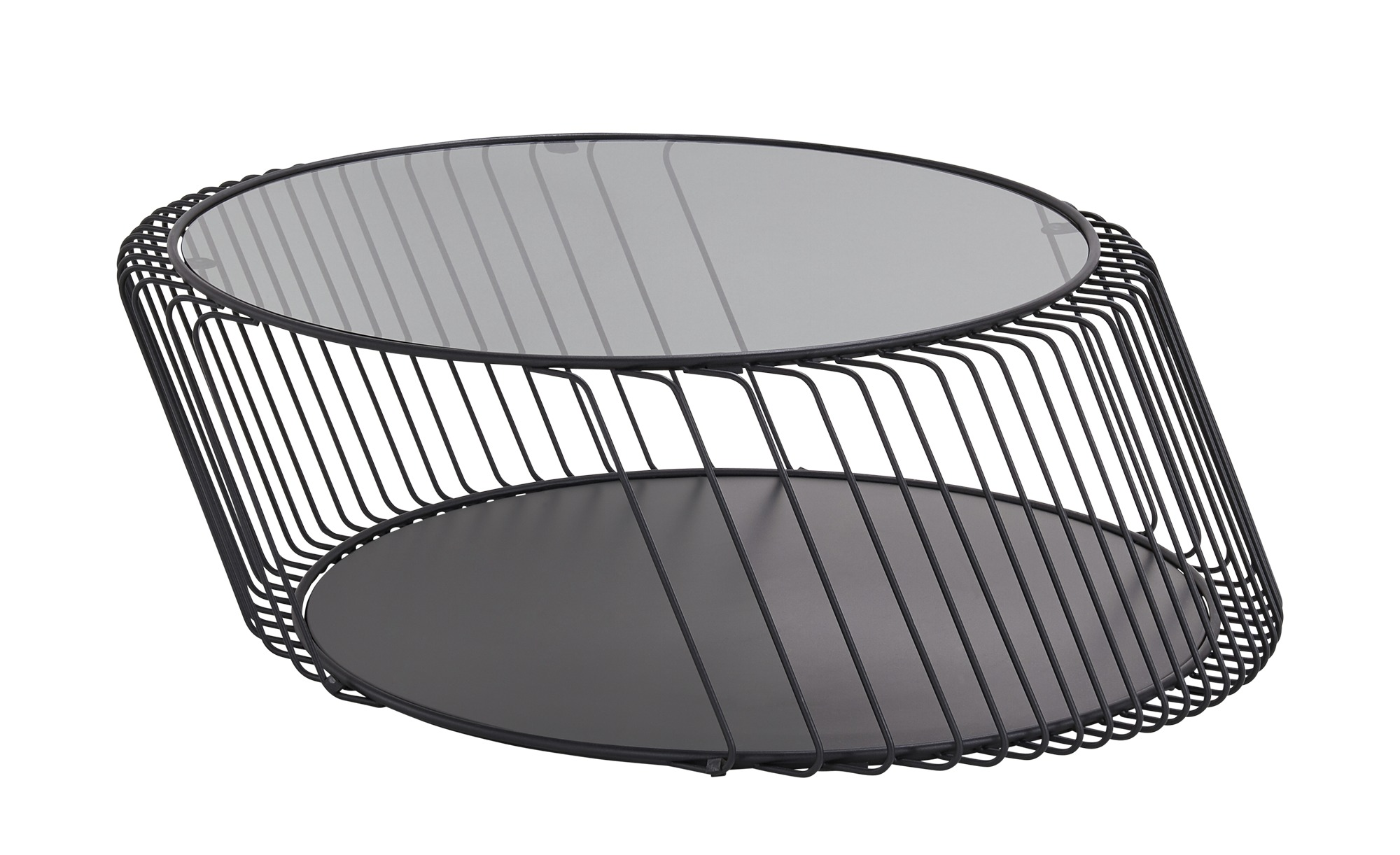 Couchtisch  Gil ¦ schwarz ¦ Maße (cm): B: 82 H: 34 T: 82 Tische > Couchtische > Couchtische andere Formen - Höffner