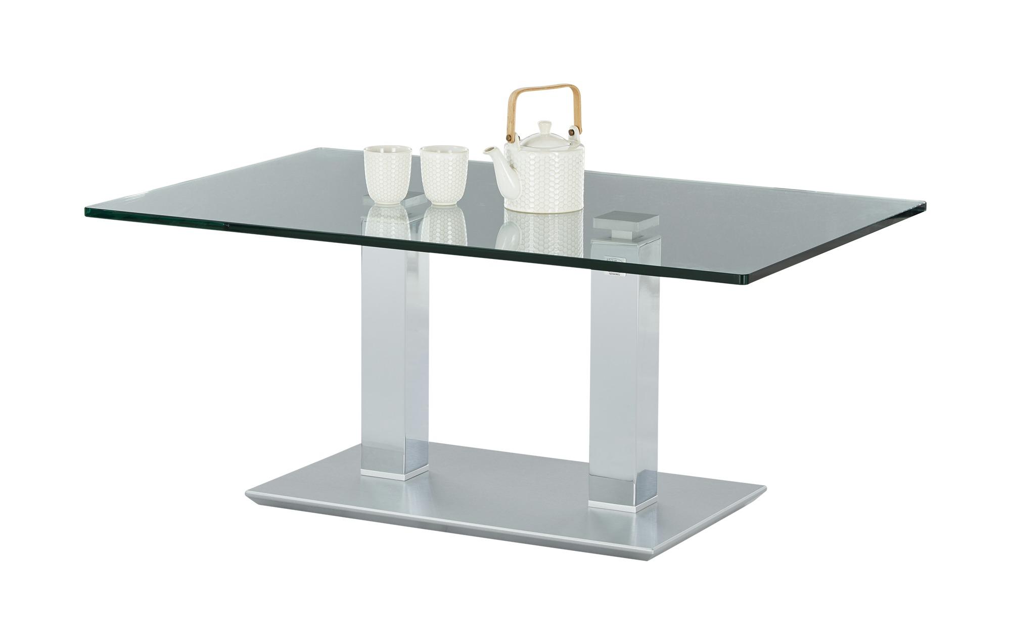 Couchtisch  Rimini Deluxe ¦ silber ¦ Maße (cm): B: 70 H: 46 T: 70 Tische > Couchtische > Couchtische höhenverstellbar - Höffner