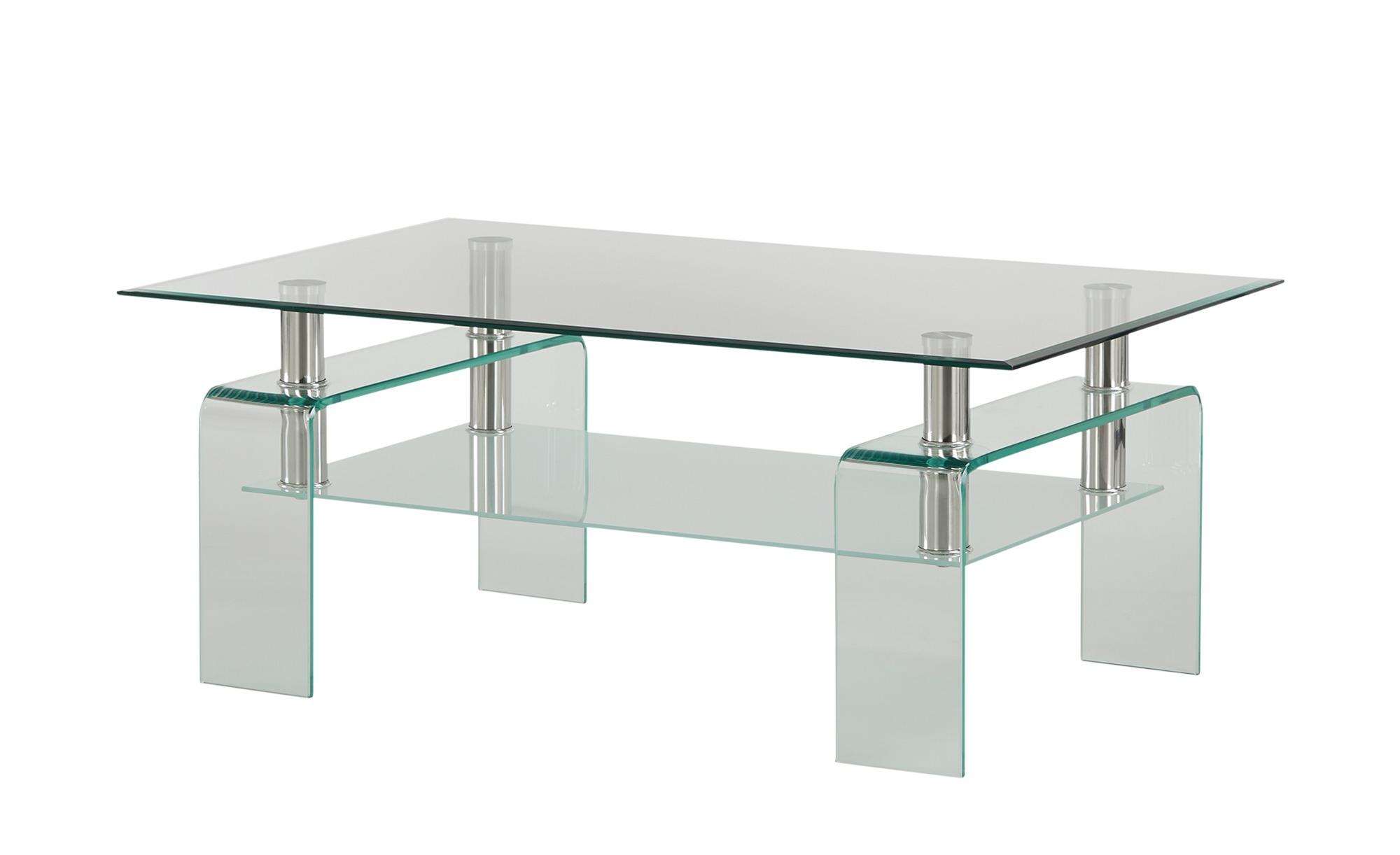 Couchtisch  Vivara ¦ transparent/klar ¦ Maße (cm): B: 70 H: 45 Tische > Couchtische > Couchtische rechteckig - Höffner