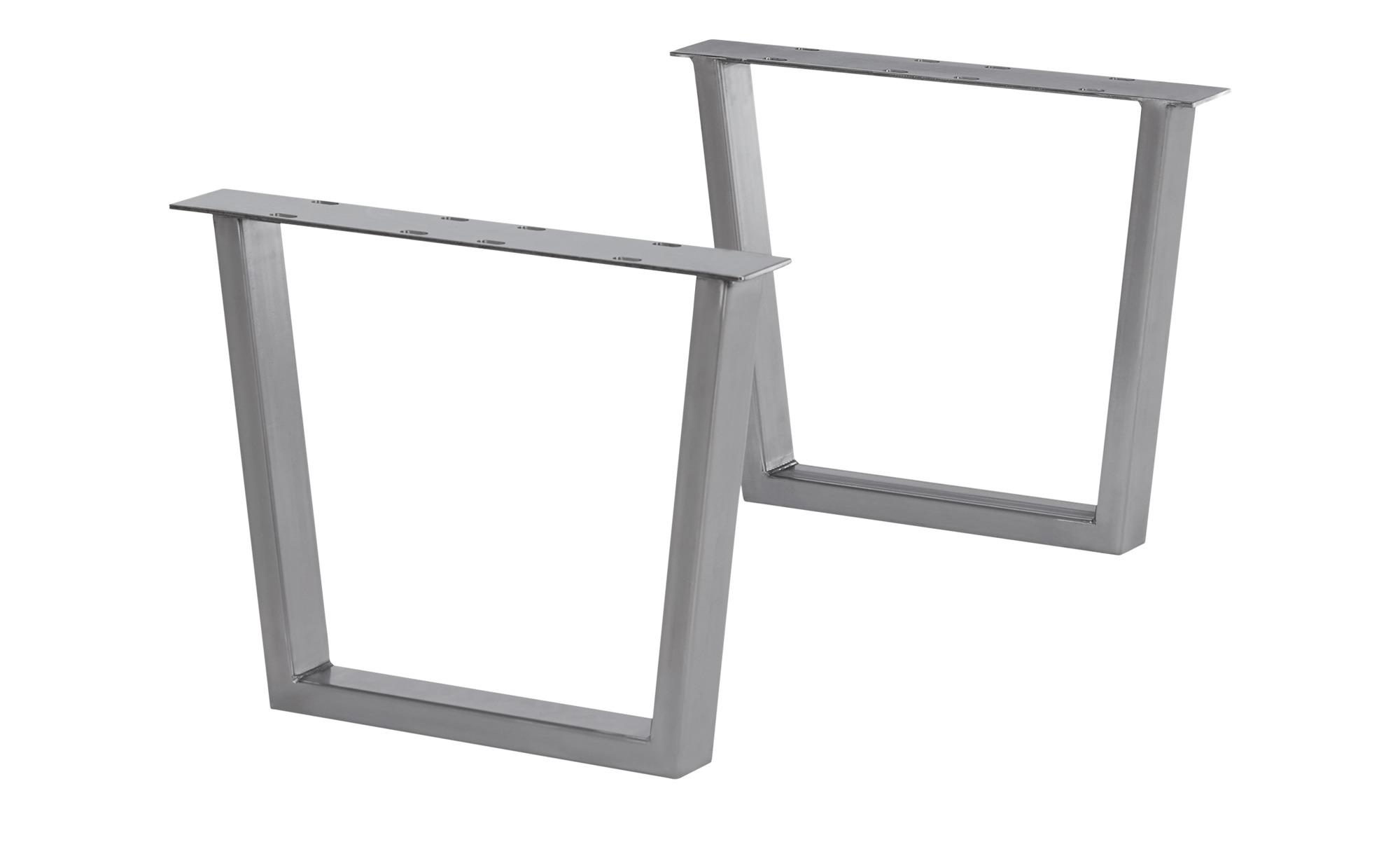 Tischgestell  Comida ¦ silber ¦ Maße (cm): B: 50 H: 44 Tische > Tischbeine - Höffner | Wohnzimmer > Tische > Weitere Tische | Möbel Höffner DE