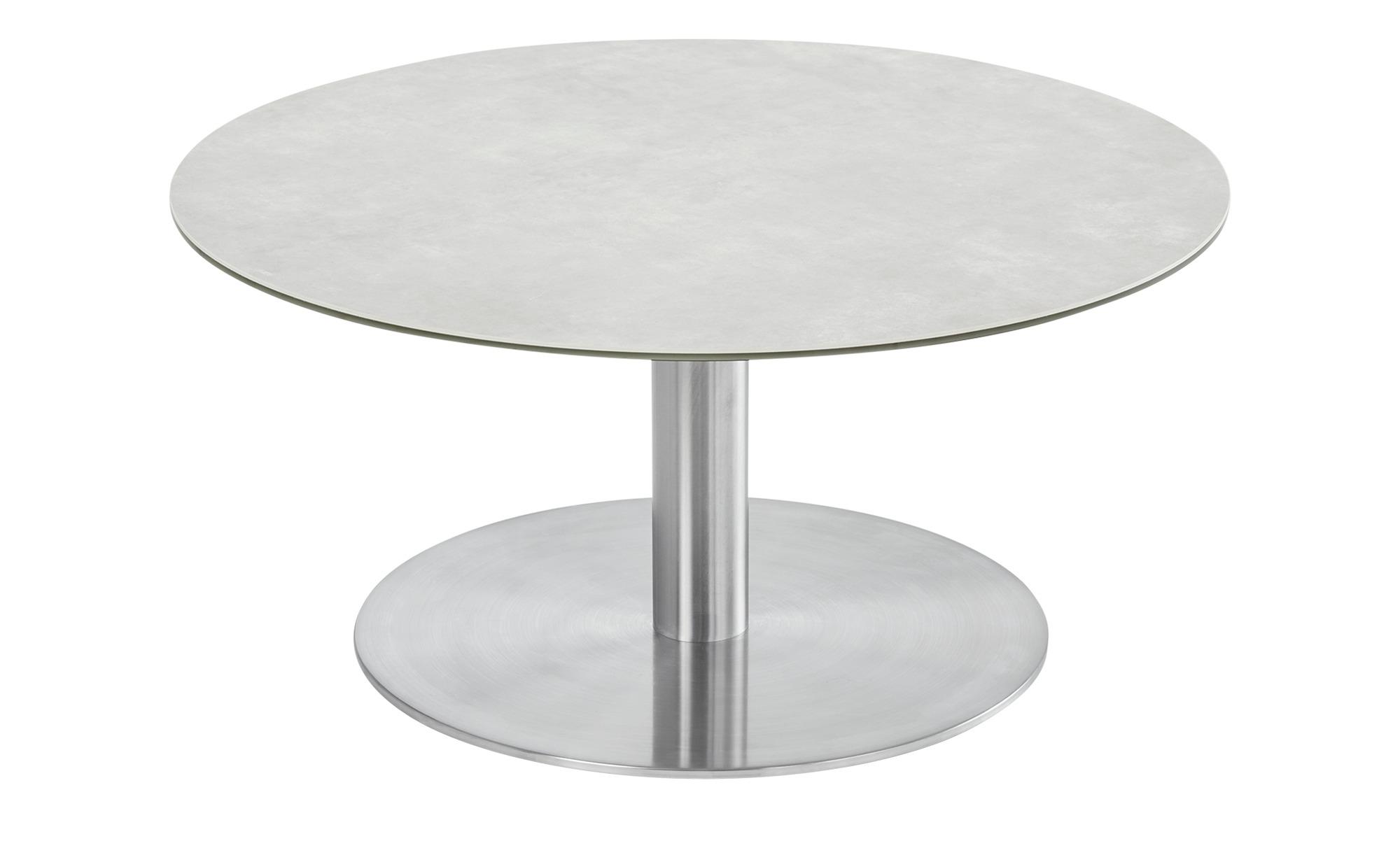 Couchtisch  Dilara ¦ silber ¦ Maße (cm): H: 38 Ø: 80 Tische > Couchtische > Couchtische rund - Höffner