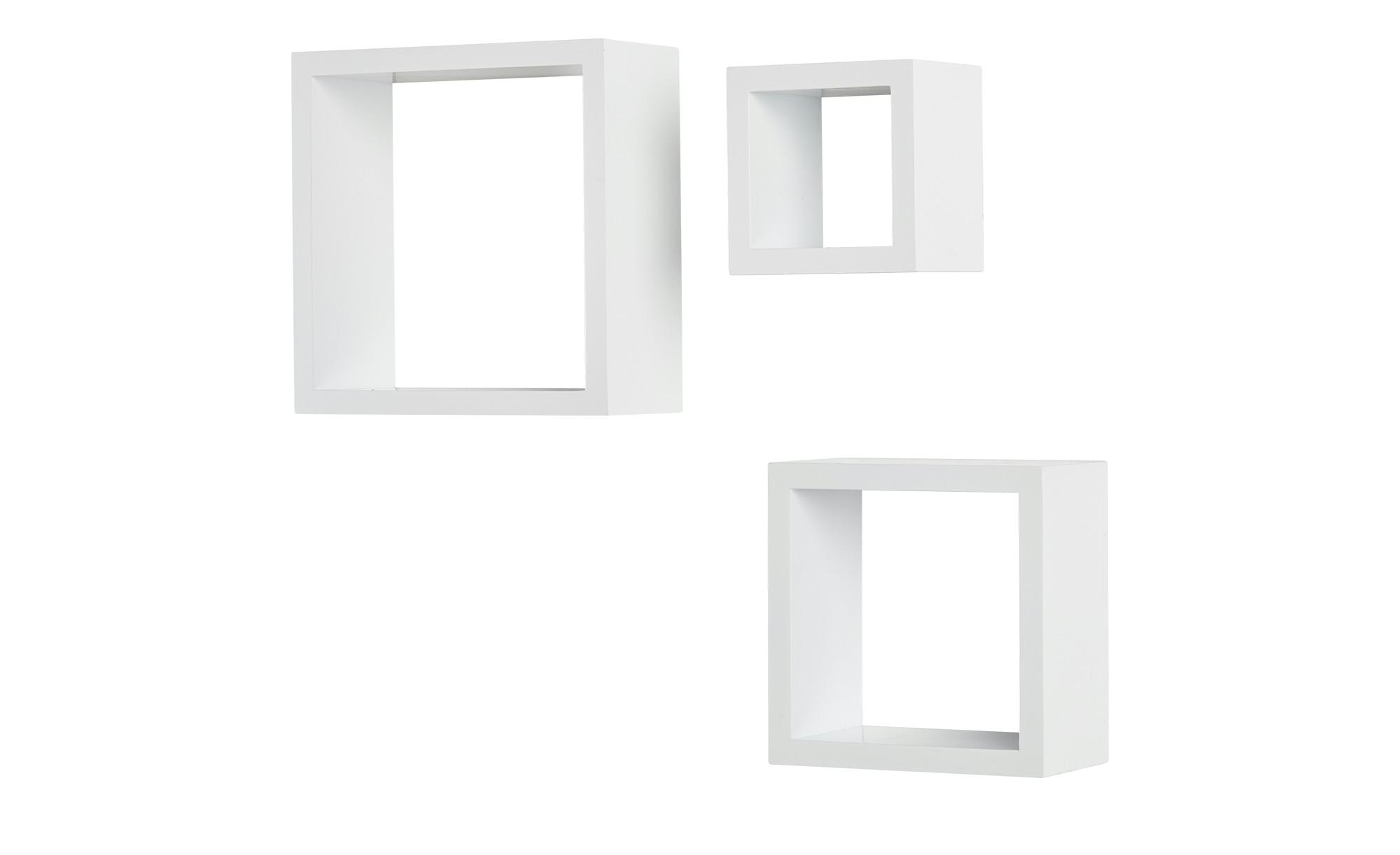 Wandregal Cube Hochglanz Weiss